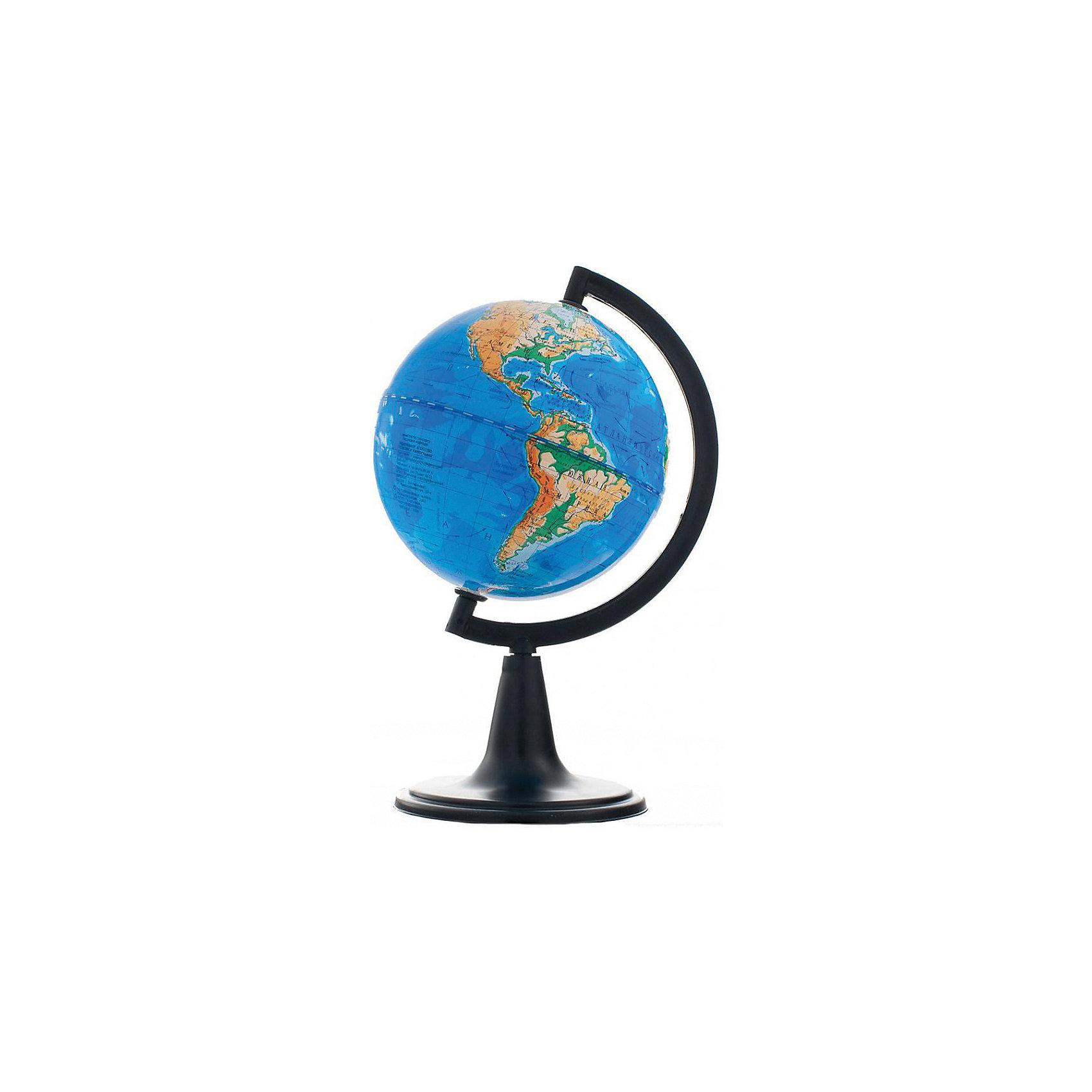 Глобус Земли физический, диаметр 120 ммДиаметр: 120 мм<br><br>Масштаб: 1:106000000<br><br>Материал подставки: Пластик<br><br>Цвет подставки: Черный<br><br>Ширина мм: 468<br>Глубина мм: 468<br>Высота мм: 435<br>Вес г: 180<br>Возраст от месяцев: 72<br>Возраст до месяцев: 2147483647<br>Пол: Унисекс<br>Возраст: Детский<br>SKU: 5518211