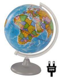 Глобусный Мир Глобус Земли политический с подсветкой, диаметр 210 мм