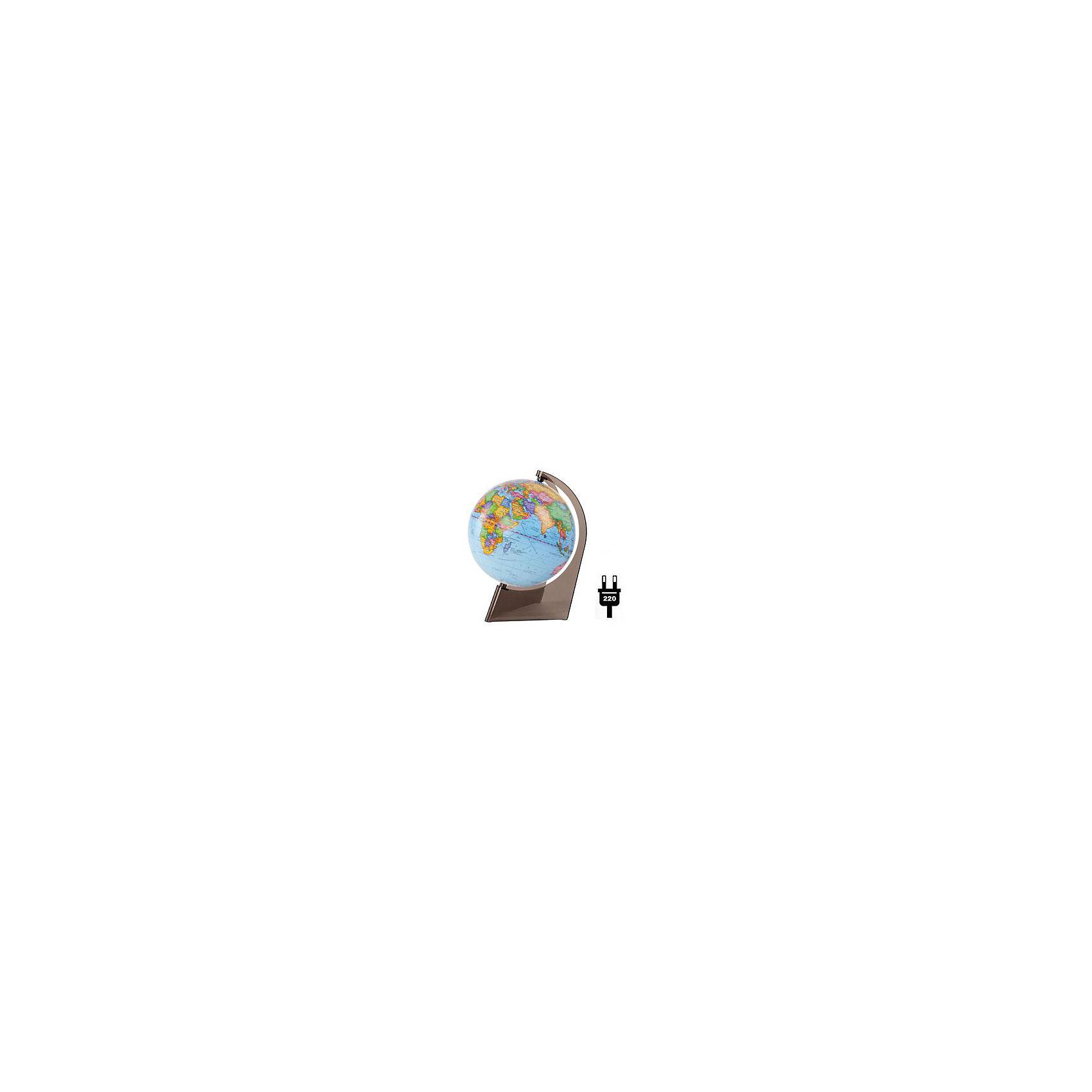 Глобус Земли политический на треугольнике с подсветкой, диаметр 210 ммГлобусы<br>Масштаб: 1:60000000<br><br>Материал подставки: пластик<br><br>Цвет подставки: прозрачный<br><br>Ширина мм: 217<br>Глубина мм: 217<br>Высота мм: 217<br>Вес г: 800<br>Возраст от месяцев: 72<br>Возраст до месяцев: 2147483647<br>Пол: Унисекс<br>Возраст: Детский<br>SKU: 5518215