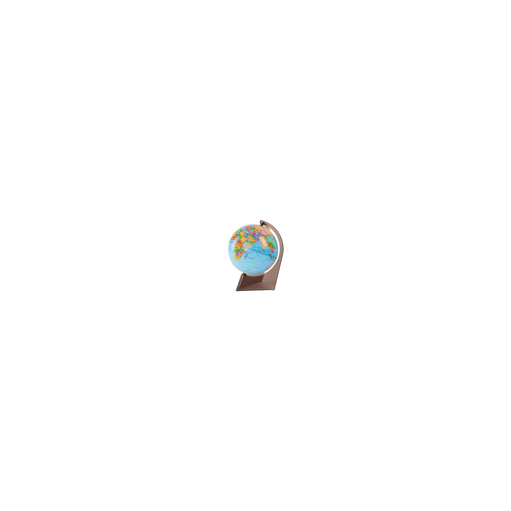 Глобус Земли политический на треугольнике, диаметр 210 ммГлобусы<br>Характеристики товара:<br><br>• возраст от 6 лет;<br>• материал: пластик;<br>• цвет подставки: прозрачный<br>• диаметр глобуса 210 мм;<br>• масштаб 1:60000000;<br>• размер упаковки 24,6х21,6х21,6 см;<br>• вес упаковки 650 гр.;<br>• страна производитель: Россия.<br><br>Глобус Земли политический на треугольнике, 210 мм Глобусный мир — уменьшенная копия нашей планеты. Глобус станет отличным дополнением для школьника или студента. Он представляет собой политическую карту мира со странами, их границами, столицами и городами. <br><br>Глобус Земли политический на треугольнике, 210 мм Глобусный мир можно приобрести в нашем интернет-магазине.<br><br>Ширина мм: 216<br>Глубина мм: 216<br>Высота мм: 246<br>Вес г: 650<br>Возраст от месяцев: 72<br>Возраст до месяцев: 2147483647<br>Пол: Унисекс<br>Возраст: Детский<br>SKU: 5518216