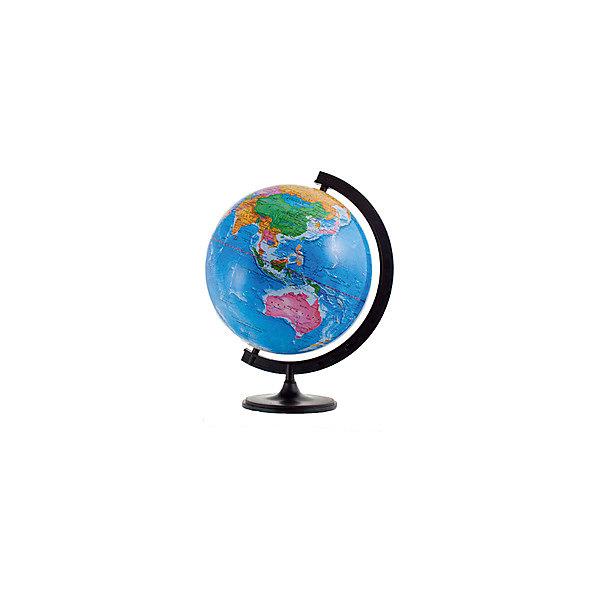 Глобус Земли политический, диаметр 320 ммГлобусы<br>Характеристики товара:<br><br>• возраст от 6 лет;<br>• материал: пластик;<br>• цвет подставки: чёрный<br>• диаметр глобуса 320 мм;<br>• масштаб 1:40000000;<br>• размер упаковки 34,5х32,1х31,2 см;<br>• вес упаковки 800 гр.;<br>• страна производитель: Россия.<br><br>Глобус Земли политический, 320 мм Глобусный мир — уменьшенная копия нашей планеты. Глобус станет отличным дополнением при изучении географии для школьника или студента. Он представляет собой политическую карту мира со странами, их границами, столицами и городами.<br><br>Глобус Земли политический, 320 мм Глобусный мир можно приобрести в нашем интернет-магазине.<br><br>Ширина мм: 312<br>Глубина мм: 321<br>Высота мм: 345<br>Вес г: 800<br>Возраст от месяцев: 72<br>Возраст до месяцев: 2147483647<br>Пол: Унисекс<br>Возраст: Детский<br>SKU: 5518218