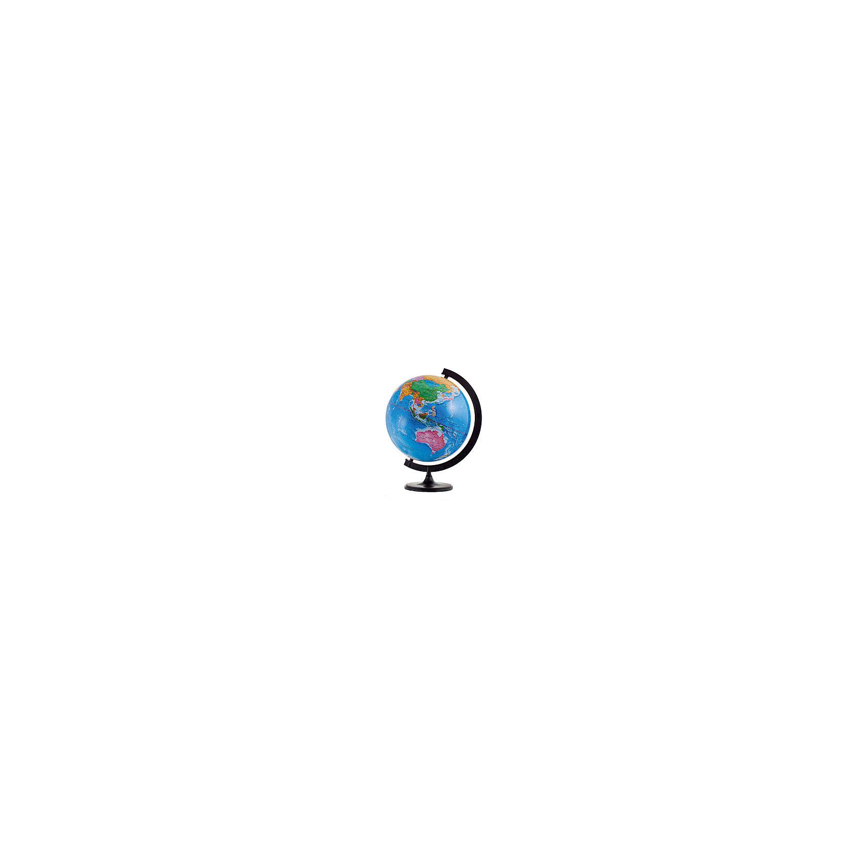 Глобус Земли политический, диаметр 320 ммГлобусы<br>Диаметр: 320 мм<br><br>Масштаб: 1:40000000<br><br>Материал подставки: Пластик<br><br>Цвет подставки: Черный<br><br>Ширина мм: 312<br>Глубина мм: 321<br>Высота мм: 345<br>Вес г: 800<br>Возраст от месяцев: 72<br>Возраст до месяцев: 2147483647<br>Пол: Унисекс<br>Возраст: Детский<br>SKU: 5518218