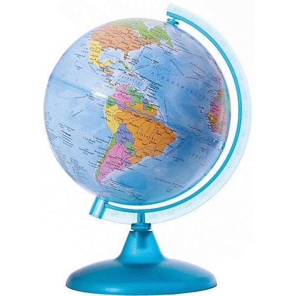 Глобус Земли политический, диаметр 210 ммГлобусы<br>Характеристики товара:<br><br>• возраст от 6 лет;<br>• материал: пластик;<br>• цвет подставки: прозрачный<br>• диаметр глобуса 210 мм;<br>• масштаб 1:60000000;<br>• размер упаковки 30х21,7х21,7 см;<br>• вес упаковки 180 гр.;<br>• страна производитель: Россия.<br><br>Глобус Земли политический, 210 мм Глобусный мир — уменьшенная копия нашей планеты. Глобус станет отличным дополнением при изучении географии для школьника или студента. Он представляет собой политическую карту мира со странами, их границами, столицами и городами.<br><br>Глобус Земли политический, 210 мм Глобусный мир можно приобрести в нашем интернет-магазине.<br>Ширина мм: 217; Глубина мм: 217; Высота мм: 300; Вес г: 180; Возраст от месяцев: 72; Возраст до месяцев: 2147483647; Пол: Унисекс; Возраст: Детский; SKU: 5518220;