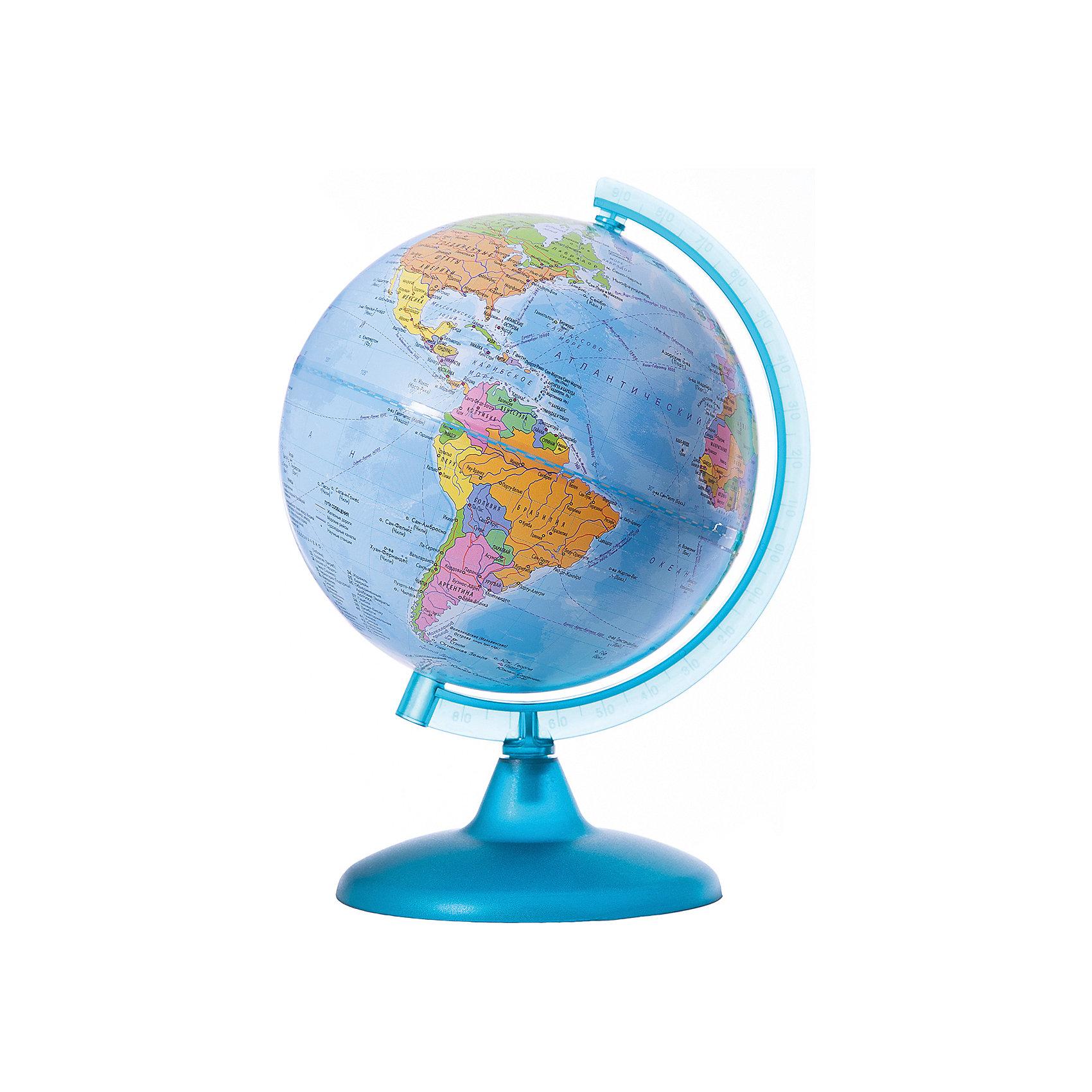 Глобус Земли политический, диаметр 210 ммДиаметр: 210 мм<br><br>Масштаб: 1:60 000 000<br><br>Материал подставки: пластик<br><br>Цвет подставки: прозрачный<br><br>Ширина мм: 217<br>Глубина мм: 217<br>Высота мм: 300<br>Вес г: 180<br>Возраст от месяцев: 72<br>Возраст до месяцев: 2147483647<br>Пол: Унисекс<br>Возраст: Детский<br>SKU: 5518220