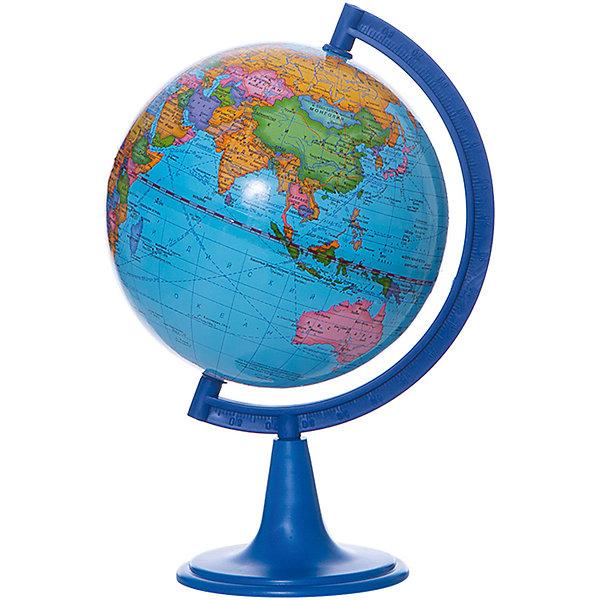 Глобус Земли политический, диаметр 150 ммГлобусы<br>Характеристики товара:<br><br>• возраст от 6 лет;<br>• материал: пластик;<br>• цвет подставки: чёрный<br>• диаметр глобуса 150 мм;<br>• масштаб 1:84000000;<br>• размер упаковки 25х16х16 см;<br>• вес упаковки 450 гр.;<br>• страна производитель: Россия.<br><br>Глобус Земли политический, 150 мм Глобусный мир — уменьшенная копия нашей планеты. Глобус станет отличным дополнением при изучении географии для школьника или студента. Он представляет собой политическую карту мира со странами, их границами, столицами и городами.<br><br>Глобус Земли политический, 150 мм Глобусный мир можно приобрести в нашем интернет-магазине.<br>Ширина мм: 160; Глубина мм: 160; Высота мм: 250; Вес г: 450; Возраст от месяцев: 72; Возраст до месяцев: 2147483647; Пол: Унисекс; Возраст: Детский; SKU: 5518221;