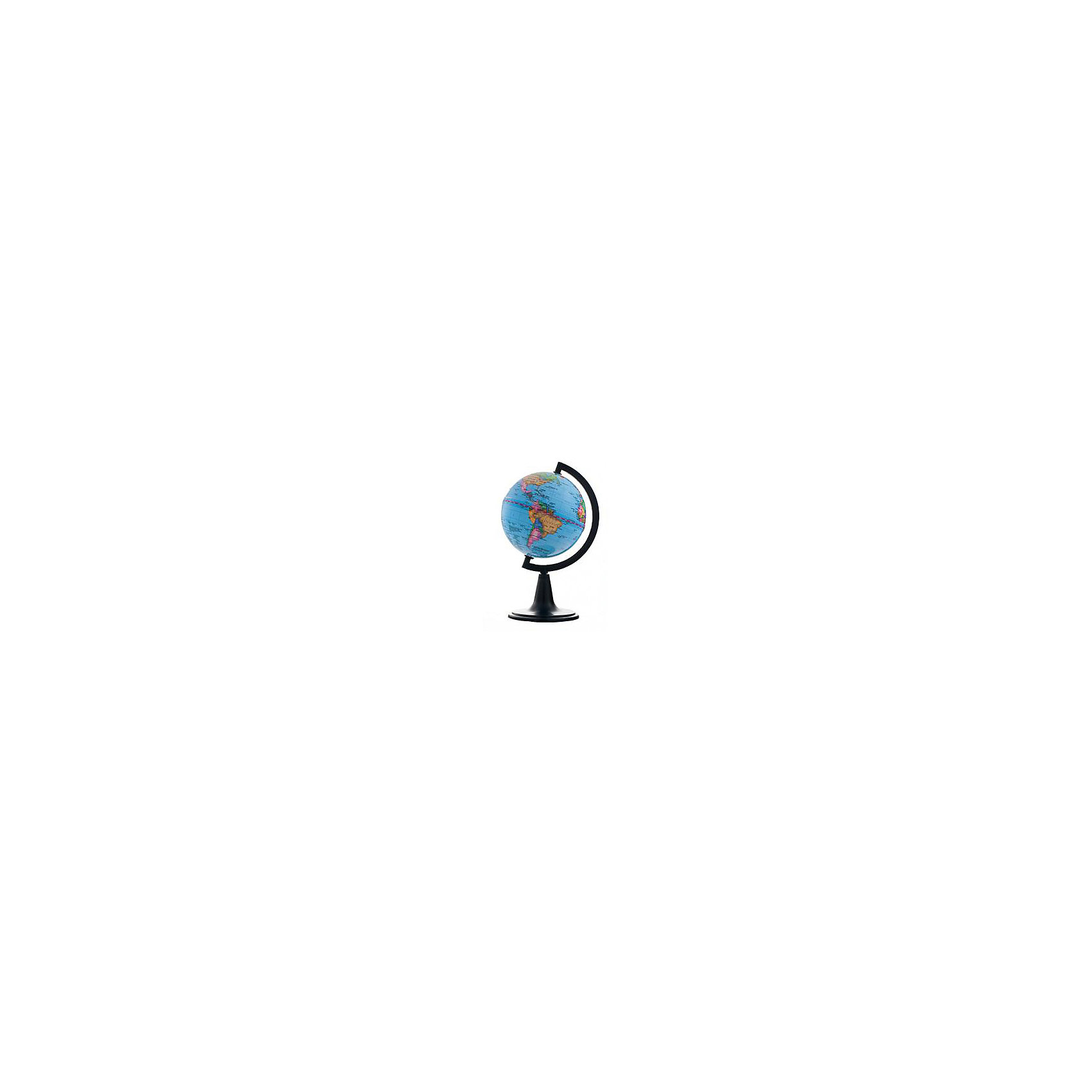Глобус Земли политический, диаметр 120 ммГлобусы<br>Характеристики товара:<br><br>• возраст от 6 лет;<br>• материал: пластик;<br>• цвет подставки: чёрный<br>• диаметр глобуса 120 мм;<br>• масштаб 1:106000000;<br>• размер упаковки 46,8х46,8х43,5 см;<br>• вес упаковки 180 гр.;<br>• страна производитель: Россия.<br><br>Глобус Земли политический, 120 мм Глобусный мир — уменьшенная копия нашей планеты. Глобус станет отличным дополнением при изучении географии для школьника или студента. Он представляет собой политическую карту мира со странами, их границами, столицами и городами.<br><br>Глобус Земли политический, 120 мм Глобусный мир можно приобрести в нашем интернет-магазине.<br><br>Ширина мм: 468<br>Глубина мм: 468<br>Высота мм: 435<br>Вес г: 180<br>Возраст от месяцев: 72<br>Возраст до месяцев: 2147483647<br>Пол: Унисекс<br>Возраст: Детский<br>SKU: 5518222