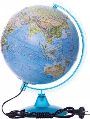 Глобусный Мир Глобус Земли «Двойная Карта» Рельефный С Подсветкой, Диаметр 250 Мм