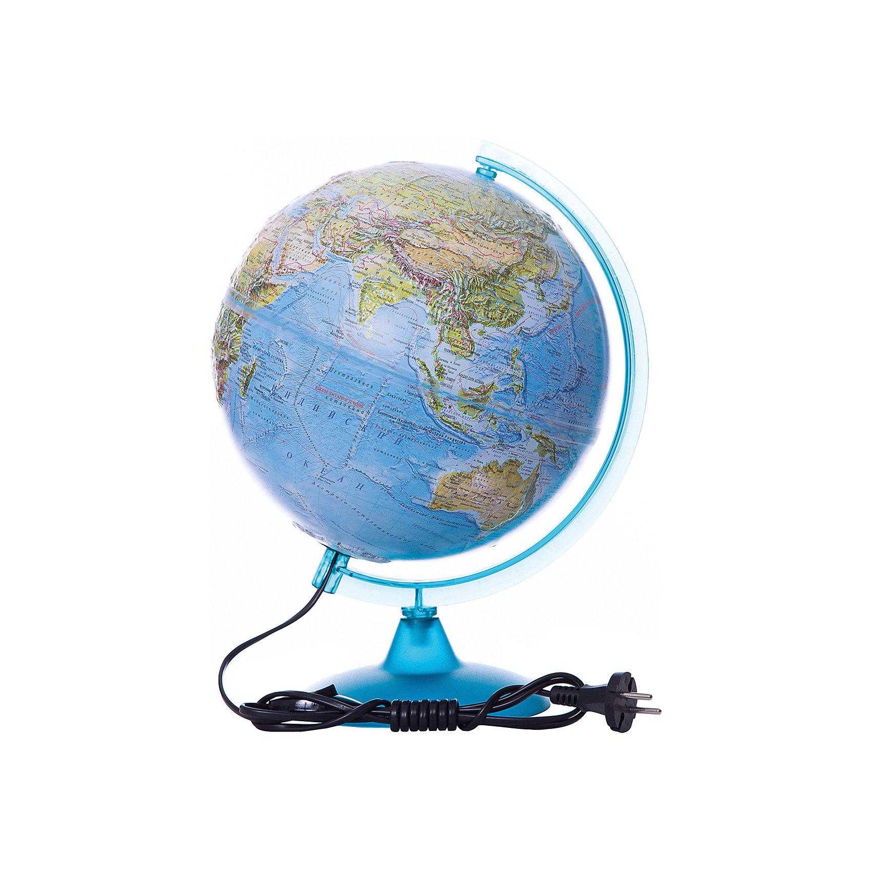 Глобус Земли «Двойная карта» рельефный с подсветкой, диаметр 250 ммГлобусы<br>Диаметр: 250 мм<br><br>Масштаб: 1:50000000<br><br>Материал подставки: Пластик<br><br>Цвет подставки: Прозрачный<br><br>Ширина мм: 260<br>Глубина мм: 260<br>Высота мм: 360<br>Вес г: 950<br>Возраст от месяцев: 72<br>Возраст до месяцев: 2147483647<br>Пол: Унисекс<br>Возраст: Детский<br>SKU: 5518227