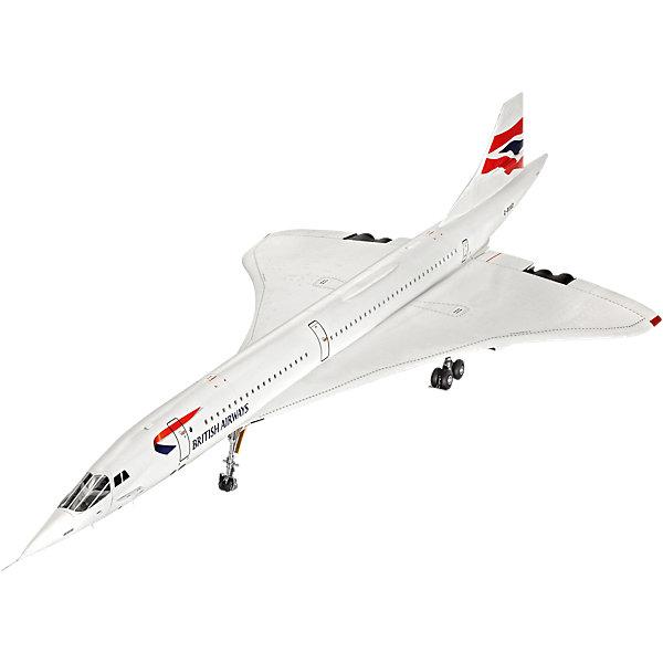 Сверхзвуковой пассажирский самолет Конкорд авиакомпании British AirwaysСамолеты и вертолеты<br>Характеристики товара:<br><br>• возраст: от 10 лет;<br>• масштаб: 1:72;<br>• количество деталей: 162 шт;<br>• материал: пластик; <br>• клей и краски в комплект не входят;<br>• длина модели: 86 см;<br>• размах крыльев: 36 см;<br>• бренд, страна бренда: Revell (Ревел),Германия;<br>• страна-изготовитель: Китай.<br><br>Сборная модель для склеивания «Сверхзвуковой пассажирский самолет Конкорд авиакомпании British Airways» поможет вам и вашему ребенку придумать увлекательное занятие на долгое время. <br><br>Набор включает в себя 162 элемента из высококачественного пластика, лист с наклейками и подробная инструкция со схемами, с помощью которых можно собрать достоверную уменьшенную копию известного британско-французского сверхзвукового пассажирского самолета.<br> <br>Процесс сборки развивает интеллектуальные и инструментальные способности, воображение и конструктивное мышление, а также прививает практические навыки работы со схемами и чертежами. <br><br>Обращаем ваше внимание на тот факт, что для сборки этой модели клей и краски в комплект не входят. <br><br>Сборную модель для склеивания «Сверхзвуковой пассажирский самолет Конкорд авиакомпании British Airways», 162 дет., Revell (Ревел) можно купить в нашем интернет-магазине.<br>Ширина мм: 515; Глубина мм: 357; Высота мм: 126; Вес г: 1368; Возраст от месяцев: 168; Возраст до месяцев: 216; Пол: Мужской; Возраст: Детский; SKU: 5518792;