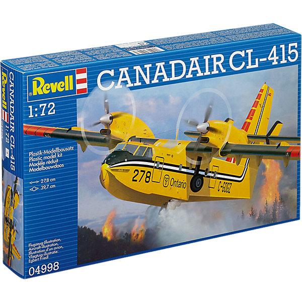 Противопожарный самолет-амфибия Canadair BOMBADIER CL-415Модели для склеивания<br>Характеристики товара:<br><br>• возраст: от 10 лет;<br>• масштаб: 1:72;<br>• количество деталей: 118 шт;<br>• материал: пластик;<br>• клей и краски в комплект не входят;<br>• длина модели: 28 см;<br>• размах крыльев: 40 см;<br>• бренд, страна бренда: Revell (Ревел),Германия;<br>• страна-изготовитель: Китай.<br><br>Сборная модель для склеивания «Противопожарный самолет-амфибия Canadair BOMBADIER CL-415» поможет вам и вашему ребенку придумать увлекательное занятие на долгое время. <br><br>Набор включает в себя 118 элементов из высококачественного пластика, лист с наклейками и подробная инструкция со схемами, с помощью которых можно собрать достоверную уменьшенную копию настоящего турбовинтового противопожарного самолета-амфибии и весело с ней поиграть или украсить интерьер комнаты.<br> <br>Процесс сборки развивает интеллектуальные и инструментальные способности, воображение и конструктивное мышление, а также прививает практические навыки работы со схемами и чертежами. <br><br>Обращаем ваше внимание на тот факт, что для сборки этой модели клей и краски в комплект не входят. <br><br>Сборную модель для склеивания «Противопожарный самолет-амфибия Canadair BOMBADIER CL-415», 118 дет., Revell (Ревел) можно купить в нашем интернет-магазине.<br><br>Ширина мм: 389<br>Глубина мм: 248<br>Высота мм: 71<br>Вес г: 455<br>Возраст от месяцев: 168<br>Возраст до месяцев: 216<br>Пол: Мужской<br>Возраст: Детский<br>SKU: 5518793