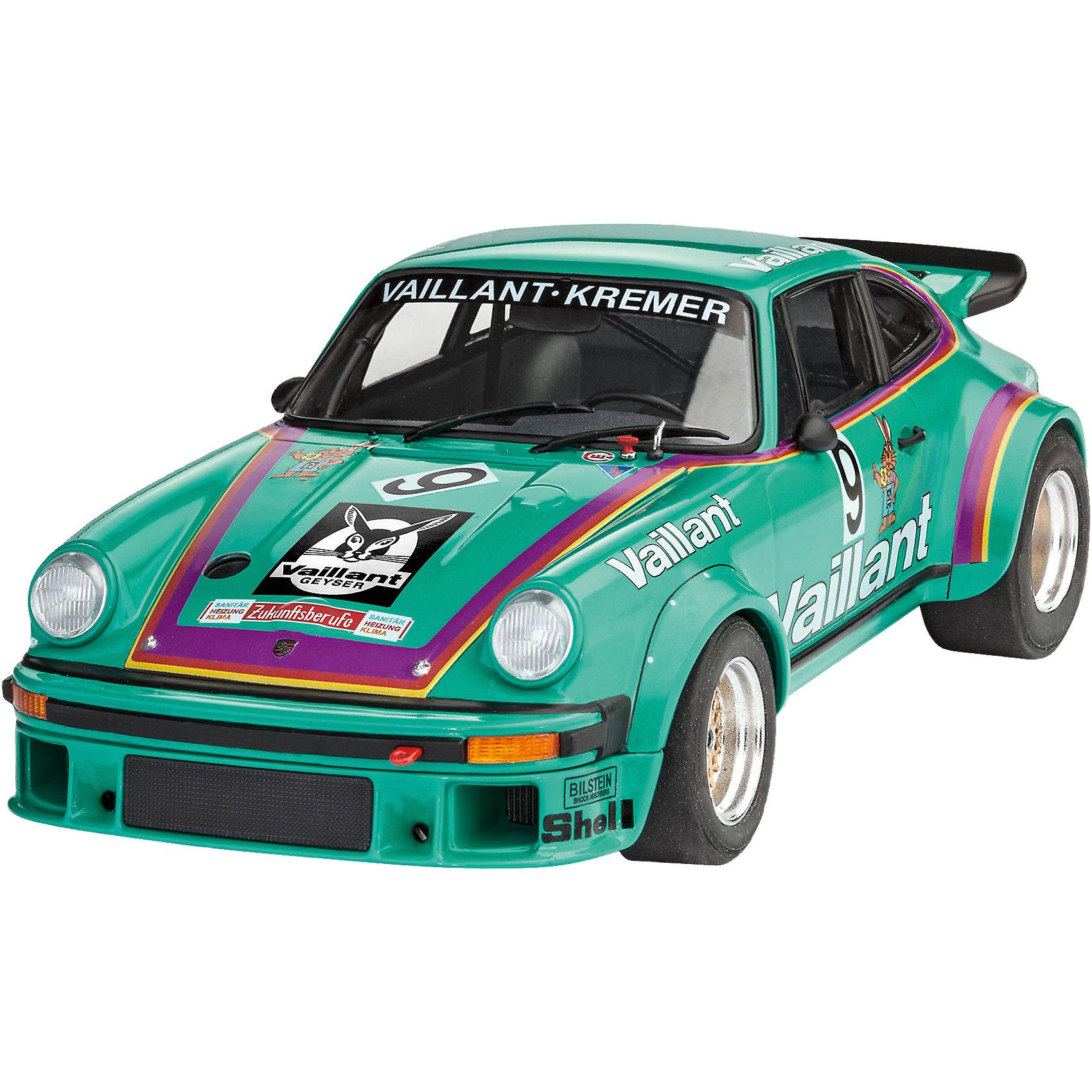 Автомобиль Porsche 934 RSR VaillantМодели для склеивания<br>Сборная модель гоночного автомобиля Porsche 934 RSR «Vaillant» в масштабе 1:24. Прототип данной модели в 1976 году участвовал в гонках Group 4 GT Class. <br>Модель машины собирается из 104 пластиковых деталей. Длина модели 17,9 сантиметров. <br>В набор помимо деталей для сборки и цветной инструкции включена декаль (Переводные картинки). Она несет на себе все необходимый для покраски машины элементы. Среди них номера, логотипы спонсоров и другая символика. <br>Клей и краски в комплект не входят.  <br>Сборная модель рекомендуется для детей от 10 лет.<br><br>Ширина мм: 356<br>Глубина мм: 215<br>Высота мм: 71<br>Вес г: 397<br>Возраст от месяцев: 120<br>Возраст до месяцев: 168<br>Пол: Мужской<br>Возраст: Детский<br>SKU: 5518800