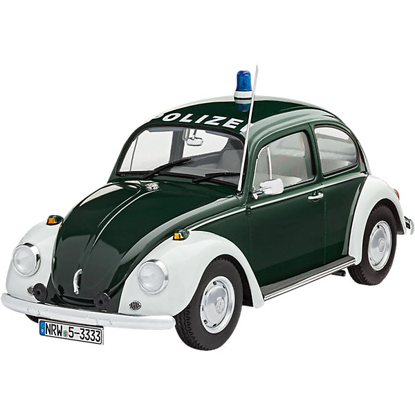 Полицейский автомобиль Фольксваген ЖукАвтомобили<br>Характеристики товара:<br><br>• возраст: от 10 лет;<br>• цвет: черно-белый;<br>• масштаб: 1:24;<br>• количество деталей: 129 шт;<br>• материал: пластик;<br>• клей и краски в комплект не входят;<br>• длина модели: 17 см;<br>• бренд, страна бренда: Revell (Ревел),Германия;<br>• страна-изготовитель: Германия.<br><br>Сборная модель для склеивания «Полицейский автомобиль Фольксваген Жук» поможет вам и вашему ребенку придумать увлекательное занятие на долгое время и получить хорошую игрушку.<br><br>Набор включает в себя 129 пластиковых элементов, наклейки  из которых можно собрать невероятно реалистичную машинку. В комплект также входит схематичная инструкция. Собранный Жук имеет прекрасно проработанный салон, открывающиеся двери, а также подвижные колеса.<br><br>Процесс сборки развивает интеллектуальные и инструментальные способности, воображение и конструктивное мышление, а также прививает практические навыки работы со схемами и чертежами. <br><br>Обращаем ваше внимание на тот факт, что для сборки этой модели клей, кисточки и краски в комплект не входят. <br><br>Сборную модель для склеивания «Полицейский автомобиль Фольксваген Жук», 129 дет., Revell (Ревел) можно купить в нашем интернет-магазине.<br>Ширина мм: 360; Глубина мм: 213; Высота мм: 76; Вес г: 372; Возраст от месяцев: 144; Возраст до месяцев: 192; Пол: Мужской; Возраст: Детский; SKU: 5518802;