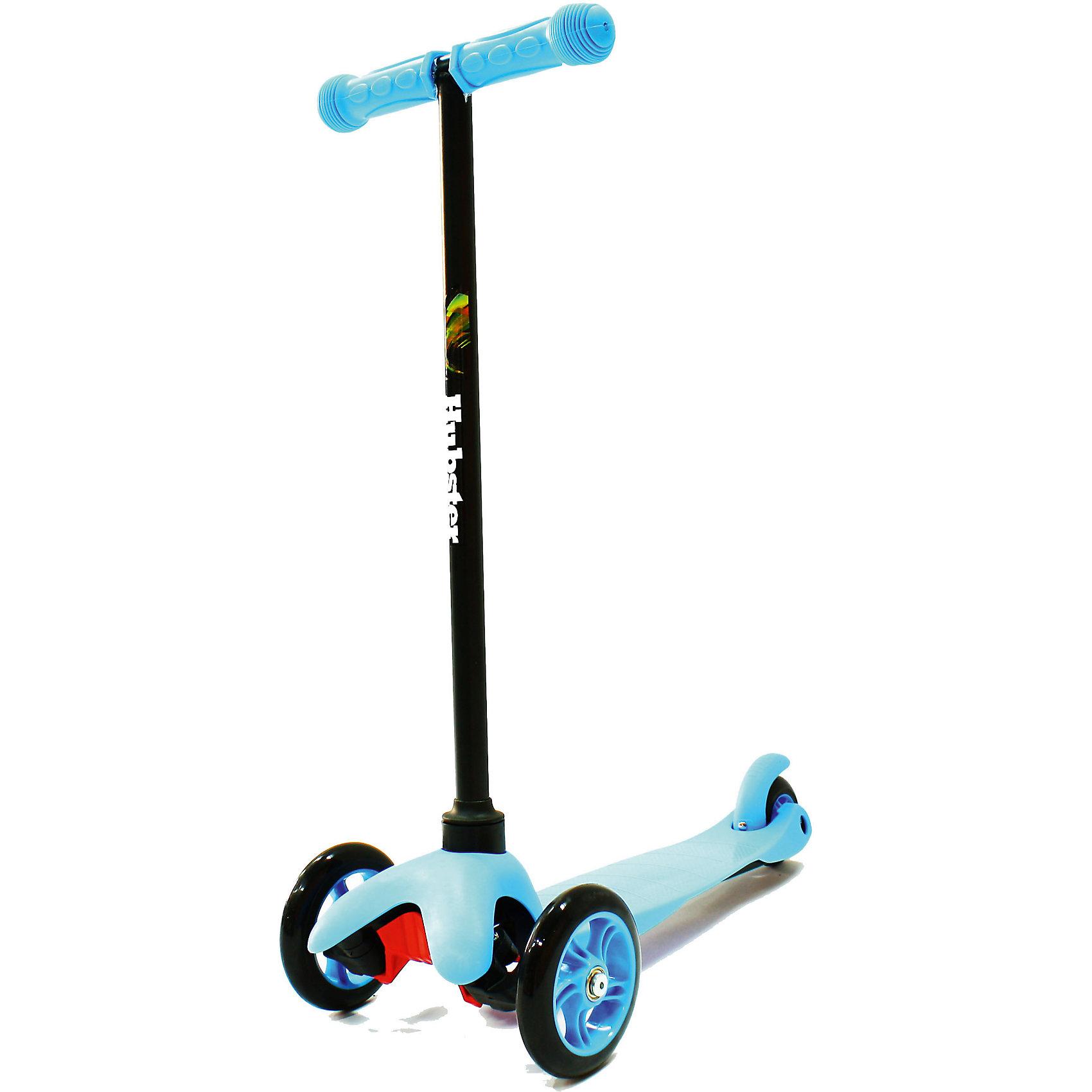 Самокат Hubster Mini,  синийСамокаты<br>Материл: алюминий, пластик. Макс.нагрузка: 30кг <br>Высота руля: Max 63 см.                                                                                  Тормоза задние-наступающий (step-on brake)                                                                                                                Полиуретановые литые колёса жёсткостью 82А.                  Размер колес: 125мм, 80мм. Подшипник:АВЕС-5                          Лёгкая долговечная система складывания, прорезиненные ручки<br><br>Ширина мм: 590<br>Глубина мм: 280<br>Высота мм: 150<br>Вес г: 1700<br>Возраст от месяцев: 24<br>Возраст до месяцев: 60<br>Пол: Унисекс<br>Возраст: Детский<br>SKU: 5518960