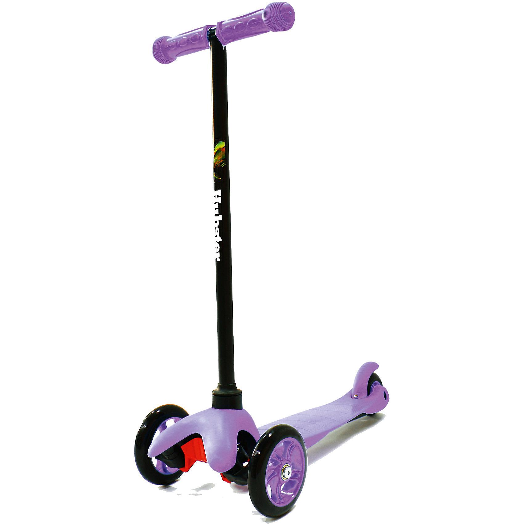 Самокат Hubster Mini,  фиолетовыйСамокаты<br>Материл: алюминий, пластик. Макс.нагрузка: 30кг <br>Высота руля: Max 63 см.                                                                                  Тормоза задние-наступающий (step-on brake)                                                                                                                Полиуретановые литые колёса жёсткостью 82А.                  Размер колес: 125мм, 80мм. Подшипник:АВЕС-5                          Лёгкая долговечная система складывания, прорезиненные ручки<br><br>Ширина мм: 590<br>Глубина мм: 280<br>Высота мм: 150<br>Вес г: 1700<br>Возраст от месяцев: 24<br>Возраст до месяцев: 60<br>Пол: Унисекс<br>Возраст: Детский<br>SKU: 5518961