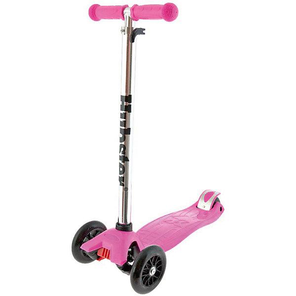 Самокат Maxi Kick Scooter,  розовыйСамокаты<br>Возраст: 3+<br>Вес: 2,5 кг. Максимальная нагрузка: 50 кг<br>Рама: алюминий, пластик, резина, ПУ материалы<br>Размер колес: 120 х 24 мм, задние 80 мм<br>Тормоз: Ножной<br>Ширина руля: 26 см<br>Регулируемая высота руля: 65 - 88 см<br>Длина платформы: 32 см<br>Ширина платформы: 13 см<br>Длина самоката: 57 см<br>Грипсы: Травмобезопасные с защитной подушечкой<br>Объем: 0.02 м?<br>Ширина мм: 590; Глубина мм: 280; Высота мм: 150; Вес г: 2500; Возраст от месяцев: 36; Возраст до месяцев: 60; Пол: Унисекс; Возраст: Детский; SKU: 5518962;