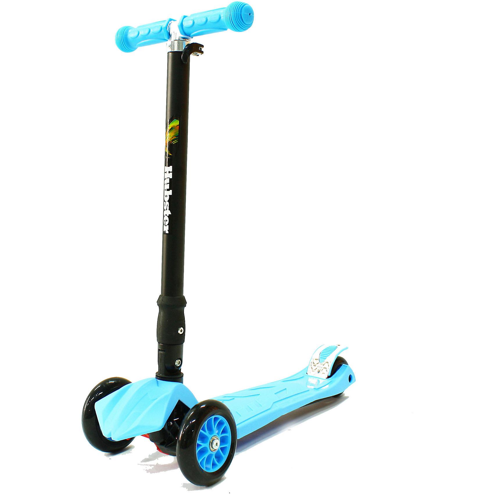Самокат Hubster Maxi Plus,  синийСамокаты<br>Возраст: 3+<br>Вес: 2,5 кг. Максимальная нагрузка: 50 кг<br>Рама: алюминий, пластик, резина, ПУ материалы<br>Размер колес: 120 х 24 мм, задние 80 мм<br>Тормоз: Ножной<br>Ширина руля: 26 см<br>Регулируемая высота руля: 65 - 88 см<br>Длина платформы: 32 см<br>Ширина платформы: 13 см<br>Длина самоката: 57 см<br>Грипсы: Травмобезопасные с защитной подушечкой<br>Объем: 0.02 м?<br><br>Ширина мм: 590<br>Глубина мм: 280<br>Высота мм: 150<br>Вес г: 3100<br>Возраст от месяцев: 36<br>Возраст до месяцев: 60<br>Пол: Унисекс<br>Возраст: Детский<br>SKU: 5518965
