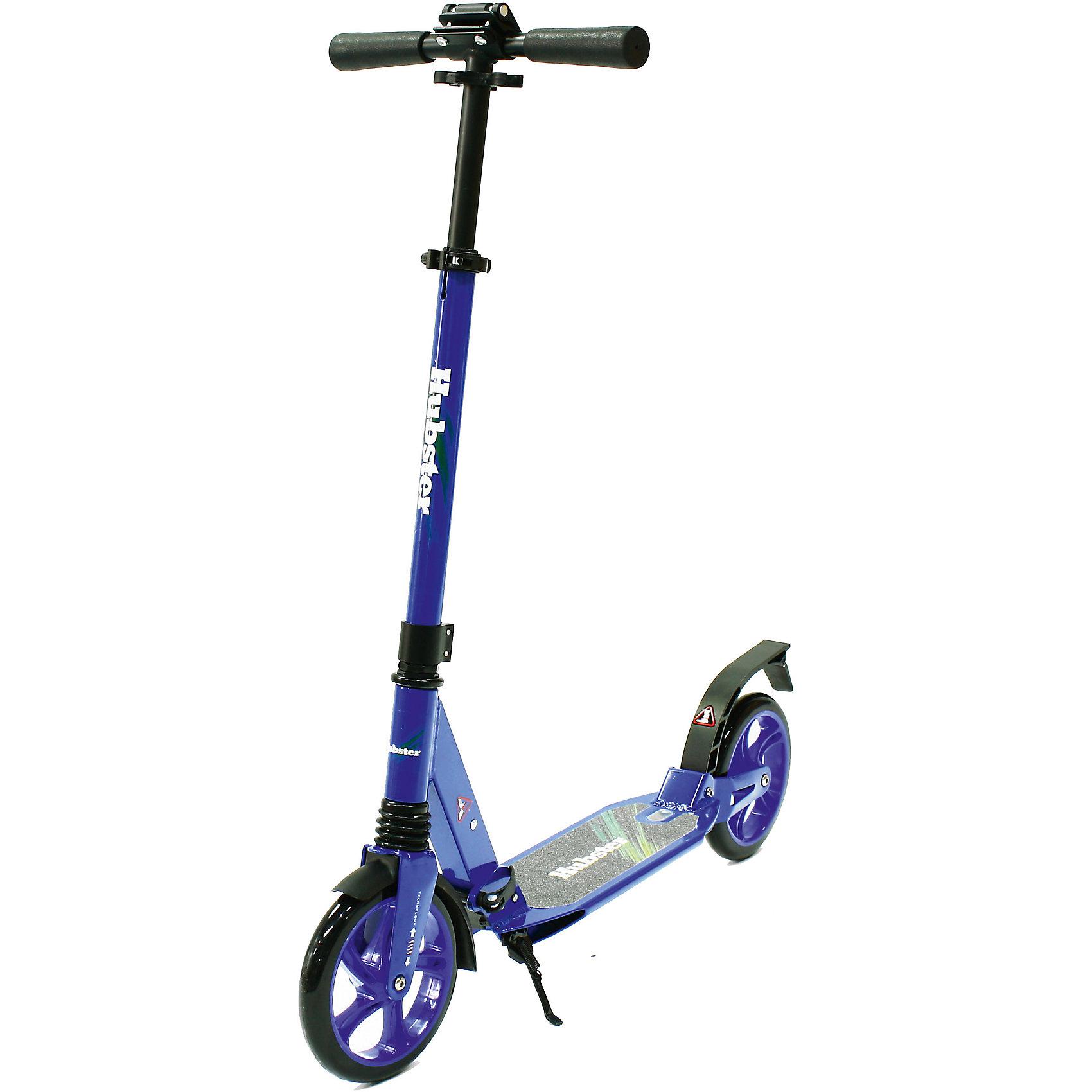 Самокат Hubster Street,  синийСамокаты<br>Алюминиевая рама; Максимальная нагрузка до 100 кг. <br> Регулируемая высота руля до max.роста 180см                            Тормоза задние-наступающий (step-on brake)                 Полиуретановые литые колёса жёсткостью 82А                           Размер колёс: 200мм; Подшипники: АВЕС-7хром                                                                                                                           Лёгкая долговечная система складывания, прорезиненные ручки                                                       <br>Передний и задний амортизаторы<br>                                С 6 лет<br><br>Ширина мм: 850<br>Глубина мм: 320<br>Высота мм: 140<br>Вес г: 6500<br>Возраст от месяцев: 72<br>Возраст до месяцев: 192<br>Пол: Унисекс<br>Возраст: Детский<br>SKU: 5518976
