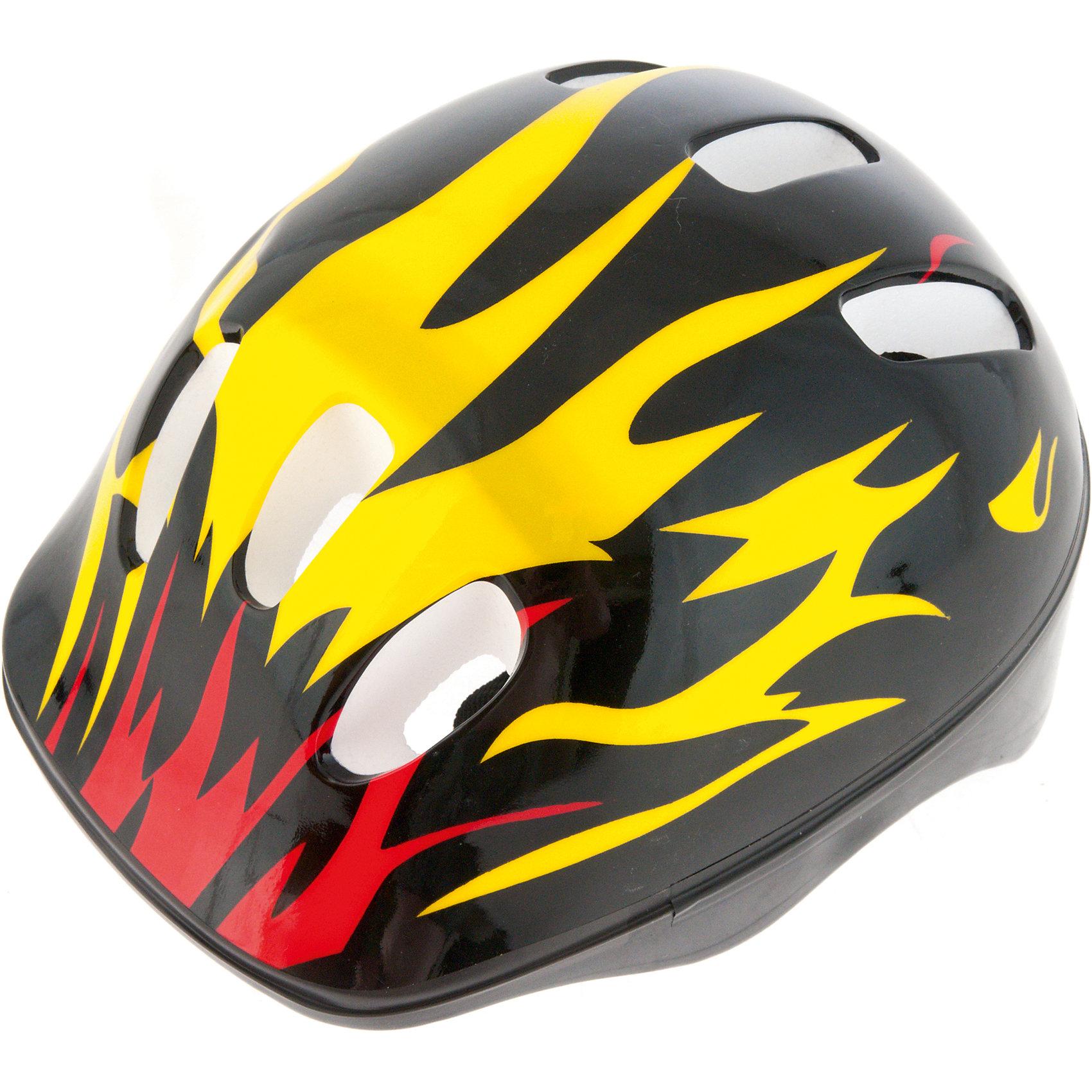 Шлем защитный детский Flame, желтый/красный, размер S, Hubster