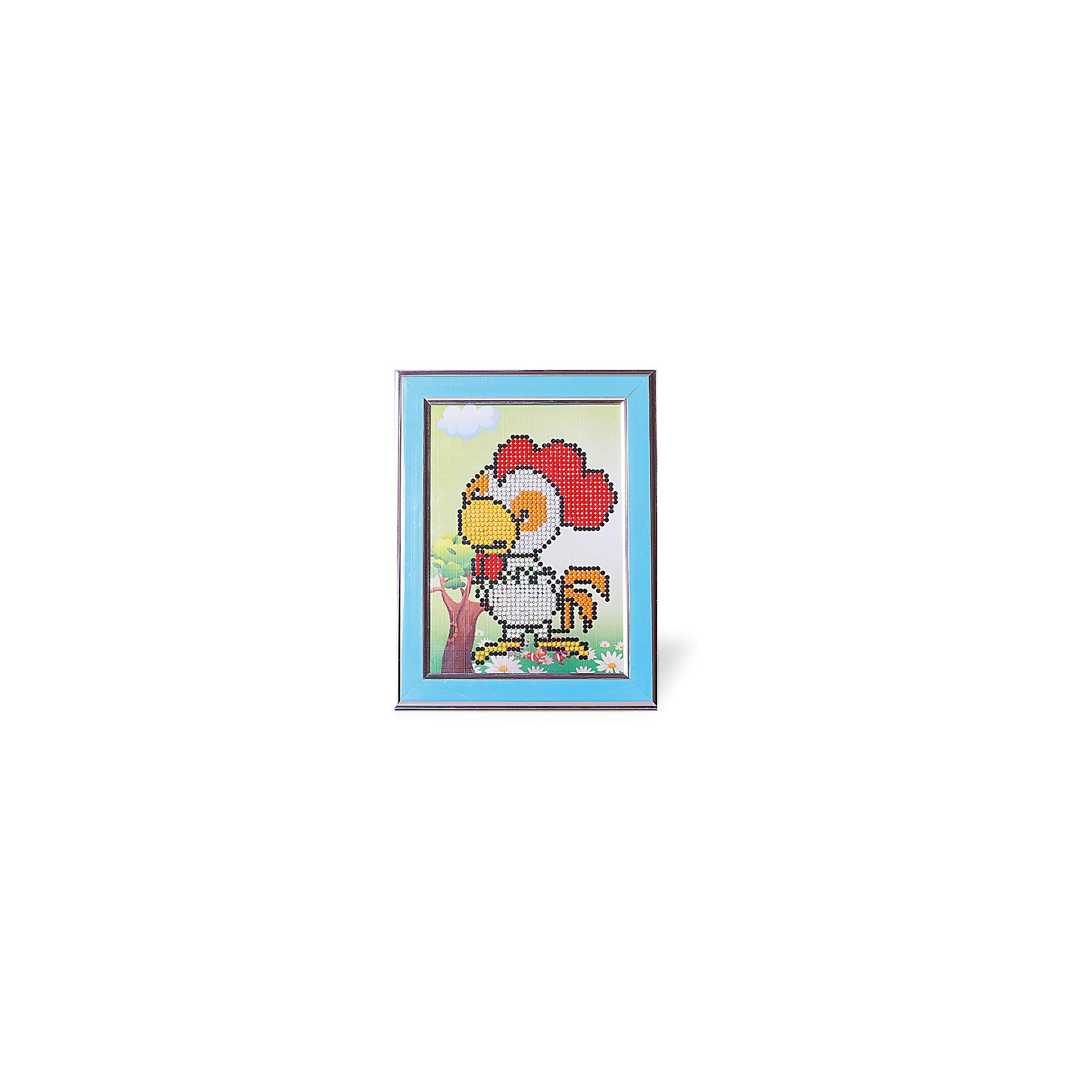 Картины мозаикой Петушок, 5 цветовМозаика<br>Картины мозаикой Петушок, 5 цветов.<br><br>Характеристики:<br><br>• Для детей в возрасте: от 7 лет<br>• В наборе: трафарет из плотного картона с клеевым слоем и нанесенной схемой рисунка, декоративная пластиковая рамка с безопасным защитным оргстеклом, пластиковый контейнер для элементов мозаики, подложка для рамки с подставкой, специальный клеевой карандаш, комплект разноцветных круглых мозаичных элементов размером 2,5 мм.<br>• Количество цветов: 5<br>• Размер картины: 17х21 см.<br>• Площадь заполнения: частичная<br>• Уровень сложности: средний<br>• Размер упаковки: 23х19х3 см.<br><br>В этом наборе уже есть все для создания маленького шедевра: разноцветные элементы мозаики, контейнер для мозаики, специальный карандаш с клеем, рамка с подставкой, защитное оргстекло, которое надежно сохранит готовую картину, и основа с клеевым слоем, на которую уже нанесен рисунок. Нужно лишь приклеить мозаичные элементы на основу с нанесенным контуром - и яркая картинка готова. Картина мозаикой, созданная своими руками, станет превосходным украшением детской комнаты, а также послужит замечательным подарком родным и близким.<br><br>Картину мозаикой Петушок, 5 цветов можно купить в нашем интернет-магазине.<br><br>Ширина мм: 180<br>Глубина мм: 230<br>Высота мм: 300<br>Вес г: 250<br>Возраст от месяцев: 84<br>Возраст до месяцев: 2147483647<br>Пол: Унисекс<br>Возраст: Детский<br>SKU: 5519363