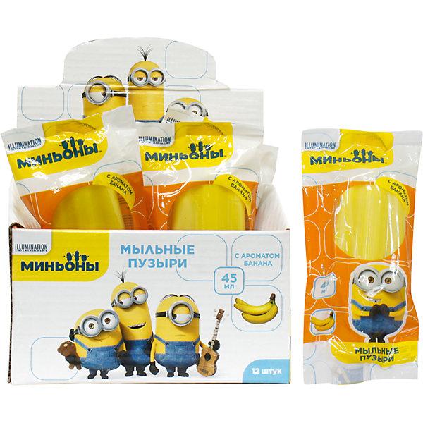 Мыльные пузыри Эскимо желтое, на палочке, в цветной обертке, банан, 45мл., Minions, 1ToyИгрушки<br>1toy Minions, мыл.пуз. эскимо желтое. на палочке в цвет.обертке, банан, 45мл., в д/б<br><br>Ширина мм: 60<br>Глубина мм: 30<br>Высота мм: 60<br>Вес г: 71<br>Возраст от месяцев: 36<br>Возраст до месяцев: 192<br>Пол: Унисекс<br>Возраст: Детский<br>SKU: 5519371