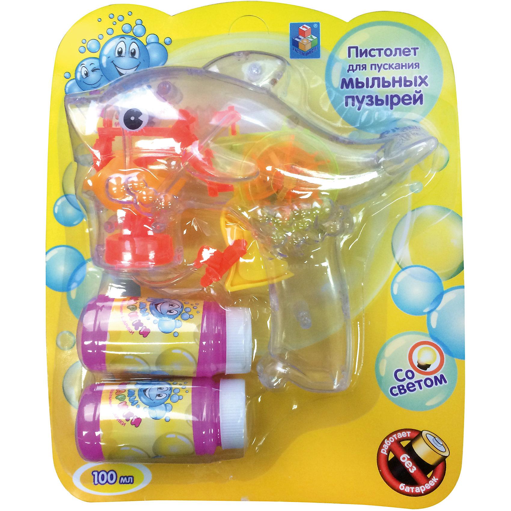 Мыльные пузыри Мы-шарики! Пистолет, со светом,+ 2 бутылочки по 50мл., 1Toy