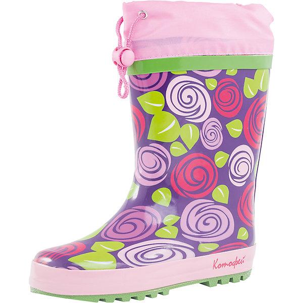 Резиновые сапоги для девочки КотофейРезиновые сапоги<br>Характеристики товара:<br><br>• цвет: фиолетовый/розовый<br>• внешний материал: резина<br>• внутренний материал: текстиль<br>• стелька: текстиль<br>• подошва: резина<br>• температурный режим: от +7°до +20°С<br>• без внутреннего съёмного сапожка<br>• водонепроницаемая манжета с утяжкой<br>• вид крепления: горячая вулканизация<br>• рифленая устойчивая подошва<br>• страна бренда: Российская Федерация<br>• страна производства: Китай<br><br>Обувь из новой коллекции от популярного российского производителя Котофей отличается ярким дизайном, продуманностью и комфортом! Эта модель разработана специально для детей - она учитывает особенности строения и развития детской стопы. Симпатичная, оригинальная и удобная вещь!<br><br>Резиновые сапоги для девочки от известного бренда Котофей можно купить в нашем интернет-магазине.<br>Ширина мм: 237; Глубина мм: 180; Высота мм: 152; Вес г: 438; Цвет: розовый; Возраст от месяцев: 132; Возраст до месяцев: 144; Пол: Женский; Возраст: Детский; Размер: 35,30,31,32,33,34; SKU: 5521608;