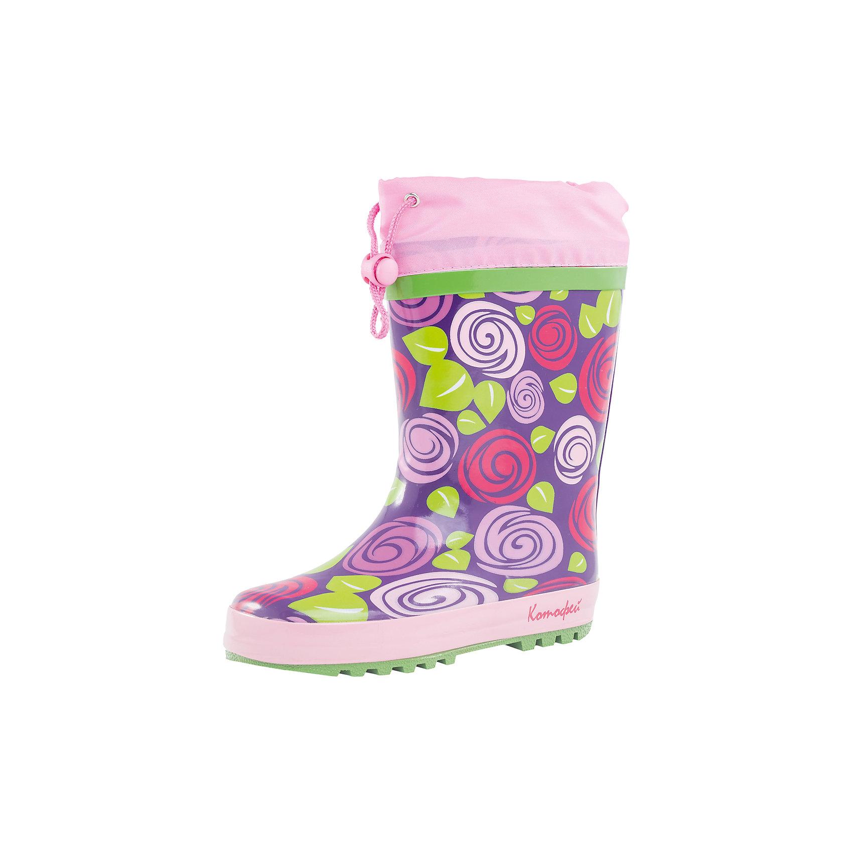 Резиновые сапоги для девочки КотофейРезиновые сапоги<br>Характеристики товара:<br><br>• цвет: фиолетовый/розовый<br>• внешний материал: резина<br>• внутренний материал: текстиль<br>• стелька: текстиль<br>• подошва: резина<br>• температурный режим: от +7°до +20°С<br>• без внутреннего съёмного сапожка<br>• водонепроницаемая манжета с утяжкой<br>• вид крепления: горячая вулканизация<br>• рифленая устойчивая подошва<br>• страна бренда: Российская Федерация<br>• страна производства: Китай<br><br>Обувь из новой коллекции от популярного российского производителя Котофей отличается ярким дизайном, продуманностью и комфортом! Эта модель разработана специально для детей - она учитывает особенности строения и развития детской стопы. Симпатичная, оригинальная и удобная вещь!<br><br>Резиновые сапоги для девочки от известного бренда Котофей можно купить в нашем интернет-магазине.<br><br>Ширина мм: 237<br>Глубина мм: 180<br>Высота мм: 152<br>Вес г: 438<br>Цвет: розовый<br>Возраст от месяцев: 132<br>Возраст до месяцев: 144<br>Пол: Женский<br>Возраст: Детский<br>Размер: 35,30,31,32,33,34<br>SKU: 5521608