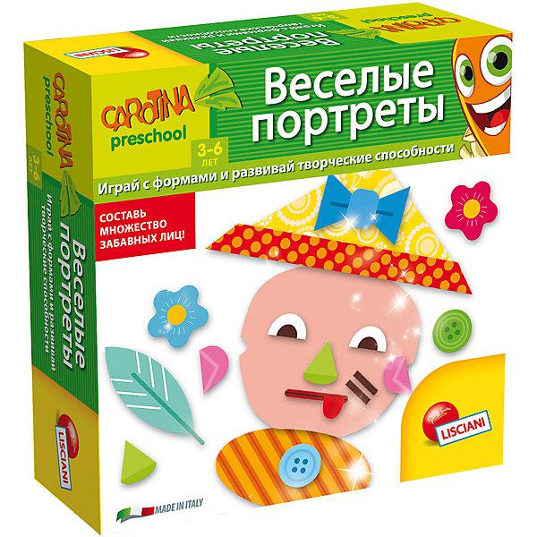 Обучающая игра Веселые портреты, LiscianiОкружающий мир<br>Обучающая игра Весёлые портреты, Lisciani<br><br>Характеристики:<br><br>• В набор входит: 6 наборов с портретами, 72 буквы, инструкция<br>• Размер упаковки: 18х5х18 см.<br>• Состав: картон, бумага<br>• Вес: 420 г.<br>• Для детей в возрасте: от 3 лет<br>• Страна производитель: Италия<br><br>Целых шесть наборов весёлых портретов, которые можно комбинировать на своё усмотрение, создавая новых и новых персонажей. Теперь можно учить части лица и развивать воображение! Занимаясь с этими играми дети смогут развивать память, внимательность, логическое и пространственное мышление, моторику рук, усидчивость, терпение и просто весело и с пользой проведут время! <br><br>Обучающую игру Весёлый портреты, Lisciani можно купить в нашем интернет-магазине.<br>Ширина мм: 177; Глубина мм: 177; Высота мм: 55; Вес г: 416; Возраст от месяцев: 36; Возраст до месяцев: 2147483647; Пол: Унисекс; Возраст: Детский; SKU: 5522894;