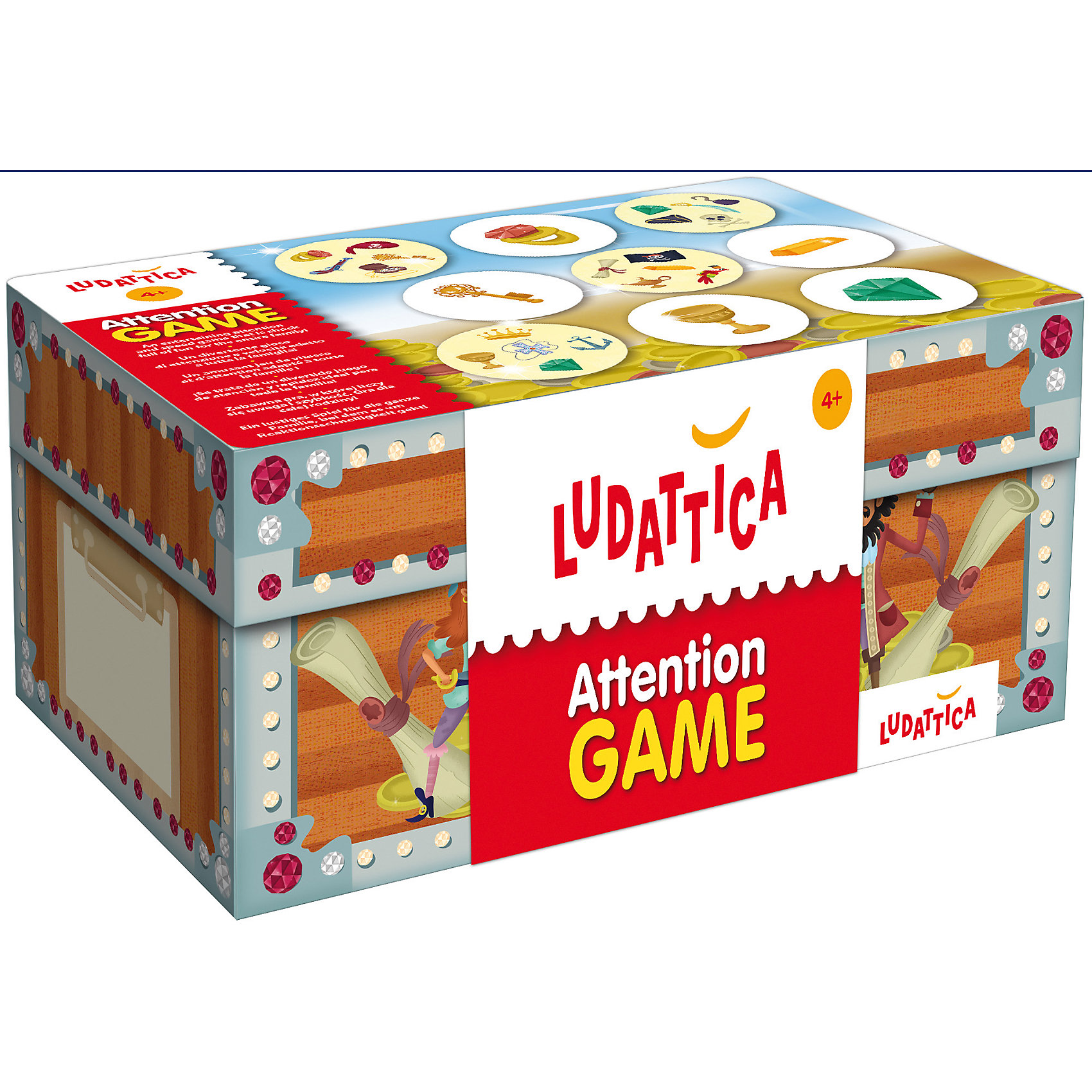 Игра настольная Сокровища пиратов, LudatticaИгры для развлечений<br>Игра настольная Сокровища пиратов, Ludattica<br><br>Характеристики:<br><br>• В набор входит: 6 карточек, форма со стрелой, 90 букв, инструкция<br>• Размер упаковки: 21х10,5х14 см.<br>• Состав: картон, бумага<br>• Количество игроков: от 2 до 6<br>• Вес: 900 г.<br>• Для детей в возрасте: от 4 лет<br>• Страна производитель: Италия<br><br>Эта игра на ловкость представлена в интересной коробке в виде сундука сокровищ. Главная цель игры набрать как можно больше сокровищ до того, как выпадет бомба. Вместе с этой увлекательной и простой игрой дети смогут отлично провести время на празднике, в дороге или в гостях.<br><br>Игру настольную Сокровища пиратов, Ludattica можно купить в нашем интернет-магазине.<br><br>Ширина мм: 205<br>Глубина мм: 135<br>Высота мм: 100<br>Вес г: 2205<br>Возраст от месяцев: 36<br>Возраст до месяцев: 2147483647<br>Пол: Унисекс<br>Возраст: Детский<br>SKU: 5522900