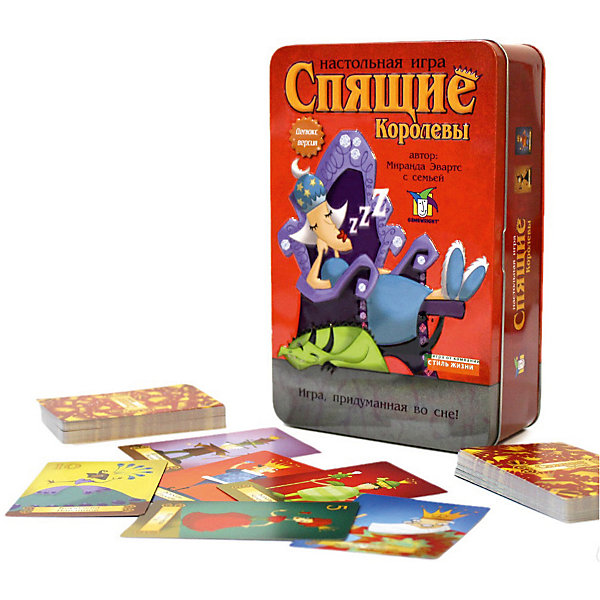Настольная игра Спящие королевы. Делюкс, Стиль ЖизниНастольные игры для всей семьи<br>Настольная игра Спящие королевы. Делюкс, Стиль Жизни<br><br>Характеристики:<br><br>• В набор входит: карточки, инструкция<br>• Размер упаковки: 20х4х12,5 см.<br>• Состав: картон, металл<br>• Количество игроков: от 2 до 5<br>• Время игры: 10-15 мин.<br>• Вес: 362 г.<br>• Для детей в возрасте: от 7 лет<br>• Страна производитель: Россия<br><br>Укутанные сном королевы и множество разных королей – король печенья, король пазлов, король ярких красок, король шляп и не только помогут убрать чары сна с королев. Игра обладает простыми, но интересными правилами, в нее можно играть небольшой компанией. Довольно быстрые партии игры не займут много времени, но займут игроков и увлекут их в новые приключения. Яркие карточки отлично проработаны и изготовлены из качественных материалов. Настольная игра упакована в красивую металлическую коробочку и станет отличным подарком.<br><br>Настольную игру Спящие королевы. Делюкс, Стиль Жизни можно купить в нашем интернет-магазине.<br>Ширина мм: 40; Глубина мм: 200; Высота мм: 130; Вес г: 363; Возраст от месяцев: 84; Возраст до месяцев: 2147483647; Пол: Унисекс; Возраст: Детский; SKU: 5523194;