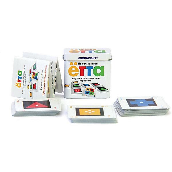 Настольная игра Ётта, Стиль ЖизниНастольные игры для всей семьи<br>Настольная игра Ётта, Стиль Жизни<br><br>Характеристики:<br><br>• В набор входит: карточки, инструкция<br>• Размер упаковки: 6х3х6 см.<br>• Состав: картон, металл<br>• Количество игроков: от 2 до 4<br>• Время игры: 30 мин.<br>• Вес: 88 г.<br>• Для детей в возрасте: от 8 лет<br>• Страна производитель: Россия<br><br>Игра упакована в маленькую коробочку, но представляет собой интересную и увлекательную карту. В игре необходимо выкладывать карточки в поле так, чтобы каждая карточка была разной, или выстраивалась в одинаковую линию. На первый взгляд задача выглядит простой, но вытащив все карточки из колоды построение становится всё более сложным.<br><br>Несложные правила игры позволяют играть в Ётту почти сразу, а длина партий занимает около получаса. Яркие карточки отлично проработаны и изготовлены из качественных материалов. Настольная игра упакована в красивую металлическую коробочку и станет отличным подарком.<br><br>Настольную игру Ётта, Стиль Жизни можно купить в нашем интернет-магазине.<br>Ширина мм: 55; Глубина мм: 60; Высота мм: 30; Вес г: 113; Возраст от месяцев: 96; Возраст до месяцев: 2147483647; Пол: Унисекс; Возраст: Детский; SKU: 5523195;