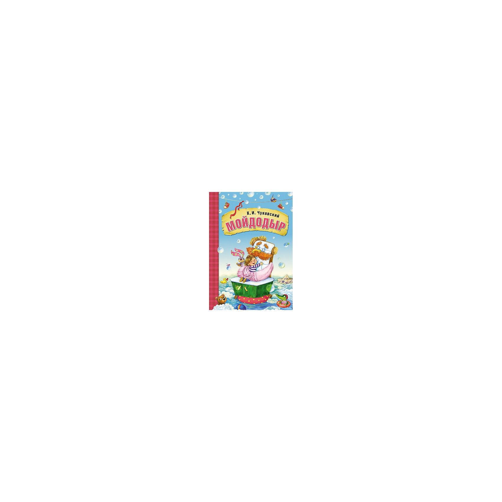 Мойдодыр, К.И. ЧуковскийЧуковский К.И.<br>Сказки К.И. Чуковского Мойдодыр, в мягкой обложке.<br><br>Характеристики:<br><br>• Для детей в возрасте: от 1,5 до 7 лет<br>• Автор: Корней Иванович Чуковский<br>• Художник: Любовь Еремина<br>• Издательство: Мозаика-Синтез<br>• Серия: Любимые сказки К. И. Чуковского. Книги в мягкой обложке<br>• Тип обложки: мягкая обложка<br>• Иллюстрации: цветные<br>• Количество страниц: 16 (мелованная)<br>• Размер: 295х290х2 мм.<br>• Вес: 100 гр.<br>• ISBN: 9785431506918<br><br>Эта замечательная книга обязательно станет любимой книгой вашего малыша! Сказка Корнея Ивановича Чуковского «Мойдодыр» знакома всем с детства. Красочные иллюстрации Л. Ереминой дополняют произведение, превращая ребят в наблюдателей за невероятными событиями, произошедшими с мальчиком-грязнулей. Ритмичные стихотворные строчки Корнея Чуковского понятны детям и просты для запоминания. Книгу в мягкой обложке легко взять с собой в гости, в поездку, на дачу или в детский сад - любимая сказка будет сопровождать вашего малыша повсюду!<br><br>Книгу в мягкой обложке Сказки К.И. Чуковского Мойдодыр можно купить в нашем интернет-магазине.<br><br>Ширина мм: 200<br>Глубина мм: 205<br>Высота мм: 290<br>Вес г: 100<br>Возраст от месяцев: 12<br>Возраст до месяцев: 84<br>Пол: Унисекс<br>Возраст: Детский<br>SKU: 5523230