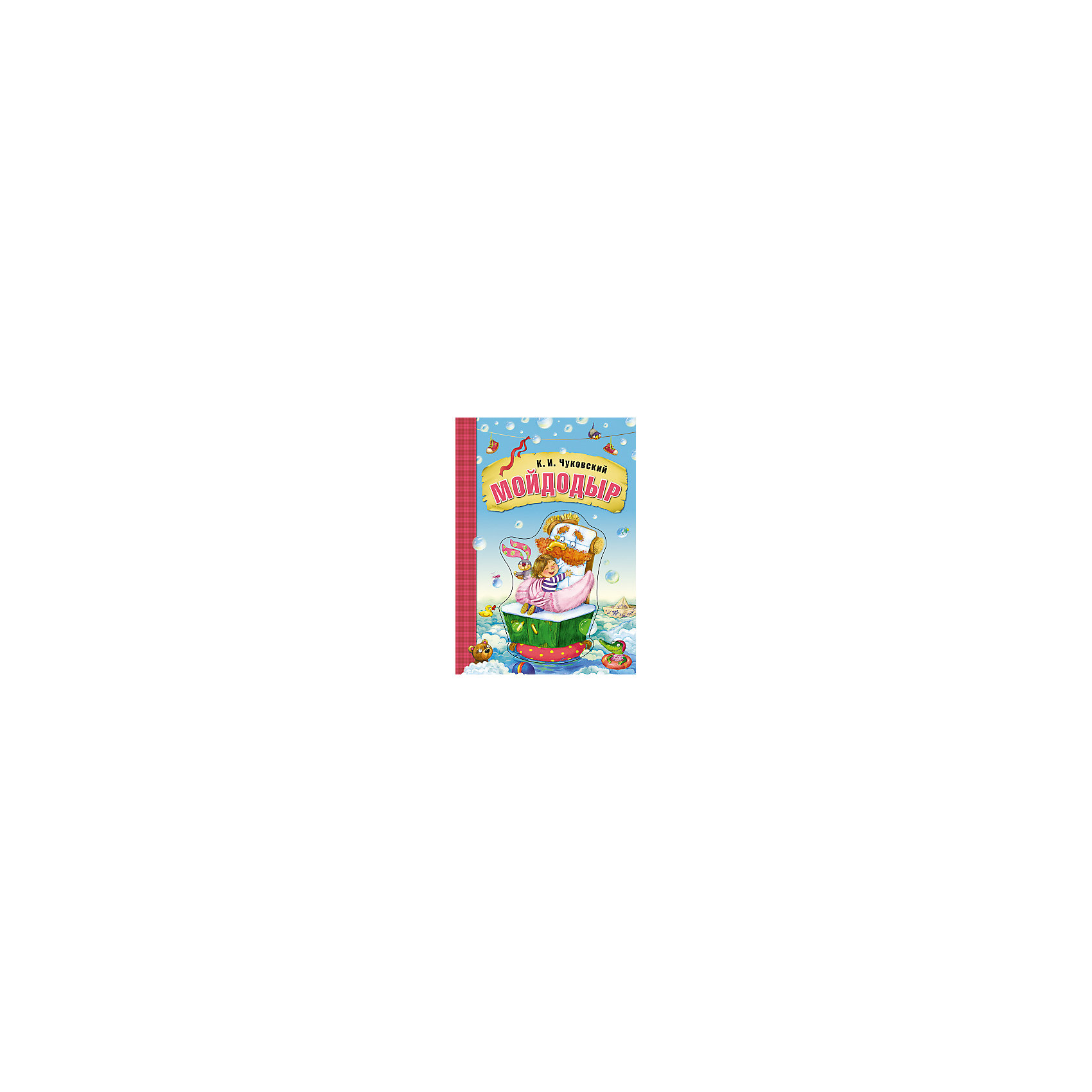 Мойдодыр, картон, К.И. ЧуковскийЧуковский К.И.<br>Сказки К.И. Чуковского Мойдодыр, книга на картоне.<br><br>Характеристики:<br><br>• Для детей в возрасте: от 1,5 до 7 лет<br>• Автор: Корней Иванович Чуковский<br>• Художник: Любовь Еремина<br>• Издательство: Мозаика-Синтез<br>• Серия: Любимые сказки К. И. Чуковского. Книги на картоне<br>• Тип обложки: картон с объемной фигурной вставкой<br>• Иллюстрации: цветные<br>• Количество страниц: 16 (плотный ламинированный картон)<br>• Размер: 190х270х10 мм.<br>• Вес: 360 гр.<br>• ISBN: 9785431506956<br><br>Книга на картоне с красивой объемной фигурной вставкой на обложке обязательно станет любимой книгой вашего малыша! Сказка Корнея Ивановича Чуковского «Мойдодыр» знакома всем с детства. Страницы книги, выполненные из плотного картона, будут очень удобны для маленьких детских ручек и непоседы смогут самостоятельно переворачивать их, наслаждаясь понравившимися картинками. <br><br>Книгу на картоне Сказки К.И. Чуковского Мойдодыр можно купить в нашем интернет-магазине.<br><br>Ширина мм: 100<br>Глубина мм: 190<br>Высота мм: 270<br>Вес г: 360<br>Возраст от месяцев: 12<br>Возраст до месяцев: 84<br>Пол: Унисекс<br>Возраст: Детский<br>SKU: 5523242