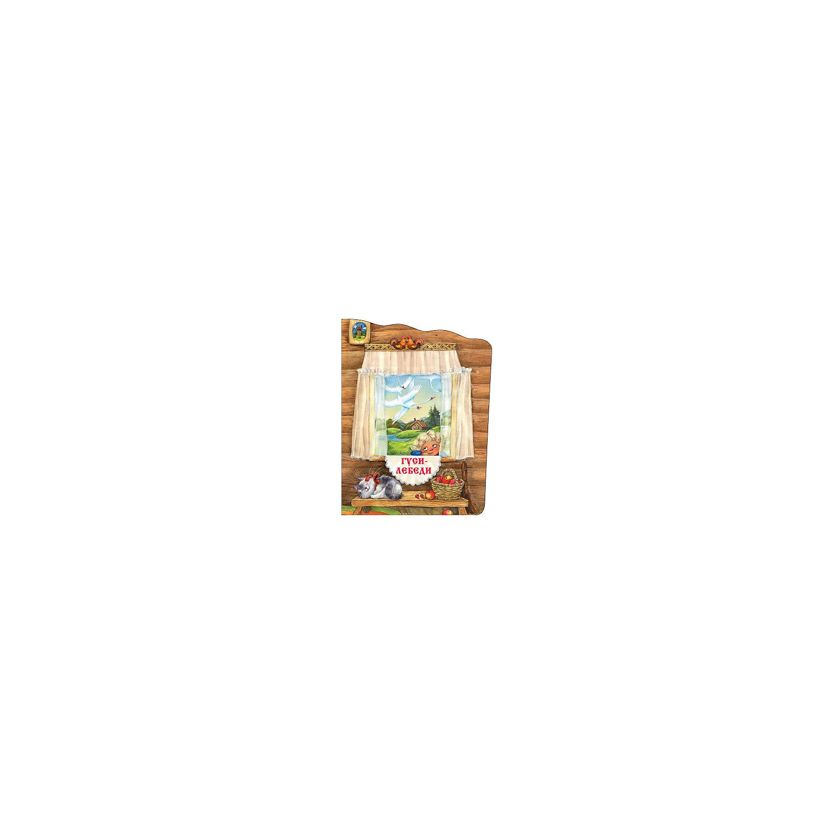 Гуси-лебеди, А.Н. ТолстойТолстой А.Н.<br>Книжка Гуси-лебеди.<br><br>Характеристики:<br><br>• Для детей в возрасте: от 12 месяцев до 4 лет<br>• Литературная обработка: Толстой Алексей Николаевич<br>• Художник: Еремина Л.<br>• Издательство: Мозаика-Синтез<br>• Серия: Русские сказки. Книжки с вырубкой<br>• Тип обложки: мягкая обложка<br>• Иллюстрации: цветные<br>• Количество страниц: 16<br>• Размер: 280х215х2 мм.<br>• Вес: 82 гр.<br>• ISBN: 9785431509032<br><br>На страницах книги с удивительными иллюстрациями Любови Ереминой оживают герои любимой русской народной сказки «Гуси-лебеди» в классической обработке А. Н. Толстого. Красочную книжку в мягкой обложке легко взять с собой в гости, в поездку, на дачу или в детский сад - любимая сказка будет сопровождать вашего малыша повсюду.<br><br>Книжку Гуси-лебеди можно купить в нашем интернет-магазине.<br><br>Ширина мм: 200<br>Глубина мм: 215<br>Высота мм: 280<br>Вес г: 82<br>Возраст от месяцев: 12<br>Возраст до месяцев: 84<br>Пол: Унисекс<br>Возраст: Детский<br>SKU: 5523248