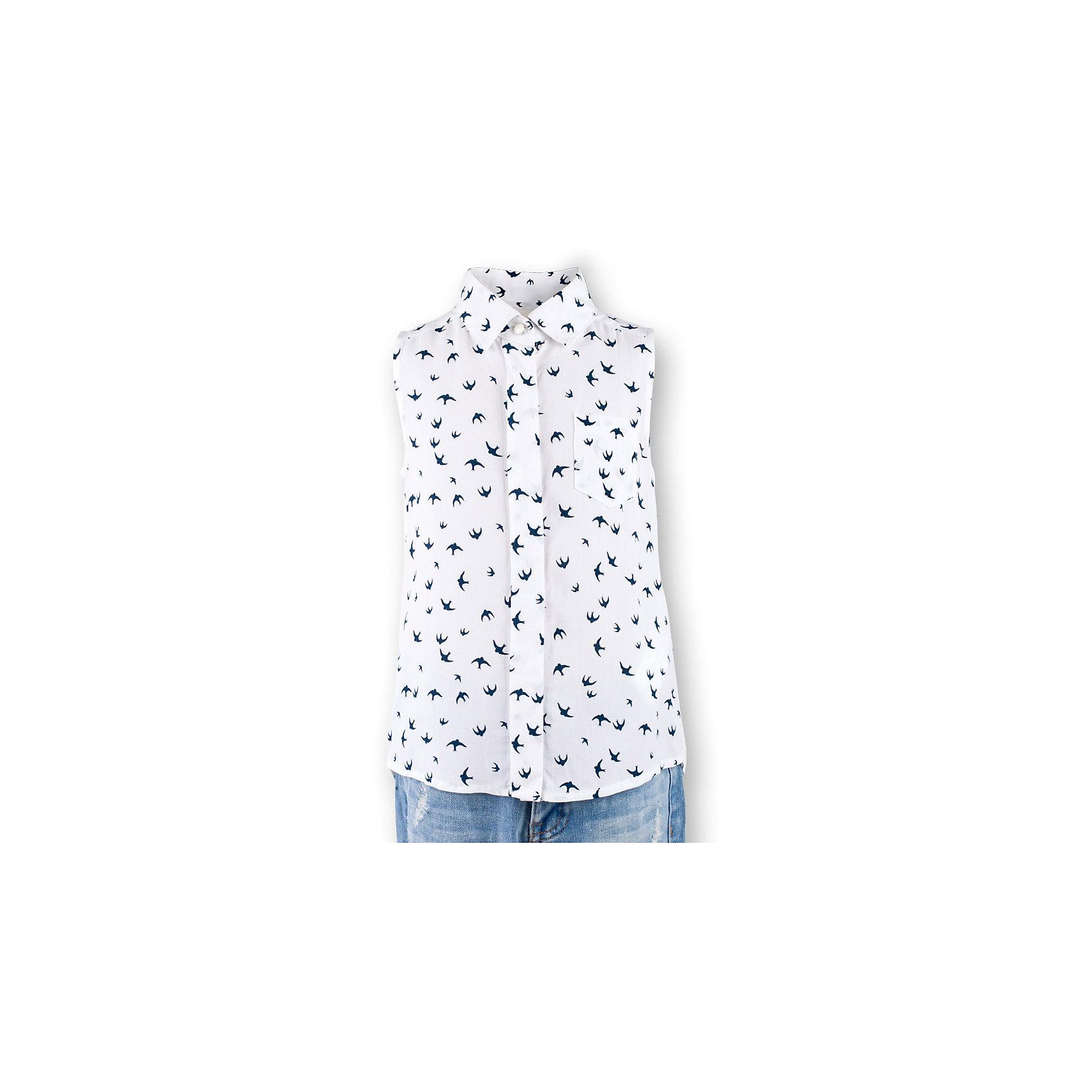 Блузка для девочки  BUTTON BLUEБлузки и рубашки<br>Блузка для девочки  BUTTON BLUE<br>Недорогие детские блузки  - не значит, скучные! В новом весенне-летнем сезоне блузка без рукавов - базовая составляющая модного  гардероба. Именно поэтому детская блузка без рукавов - хит летней коллекции от Button Blue! Простая, удобная и очень элегантная модель в компании с шортами, брюками, юбкой сделает повседневный образ ребенка модным и современным.<br>Состав:<br>100%  вискоза<br><br>Ширина мм: 174<br>Глубина мм: 10<br>Высота мм: 169<br>Вес г: 157<br>Цвет: разноцветный<br>Возраст от месяцев: 24<br>Возраст до месяцев: 36<br>Пол: Женский<br>Возраст: Детский<br>Размер: 98,146,104,110,116,122,128<br>SKU: 5523275
