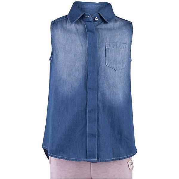 Блузка джинсовая для девочки  BUTTON BLUEДжинсовая одежда<br>Блузка для девочки  BUTTON BLUE<br>Недорогие детские блузки  - не значит, скучные! В новом весенне-летнем сезоне блузка без рукавов - базовая составляющая модного  гардероба. Именно поэтому детская блузка без рукавов - хит летней коллекции от Button Blue! Простая, удобная и очень элегантная модель в компании с шортами, брюками, юбкой сделает повседневный образ ребенка модным и современным.<br>Состав:<br>100%  хлопок<br><br>Ширина мм: 174<br>Глубина мм: 10<br>Высота мм: 169<br>Вес г: 157<br>Цвет: голубой<br>Возраст от месяцев: 24<br>Возраст до месяцев: 36<br>Пол: Женский<br>Возраст: Детский<br>Размер: 98,158,152,146,140,134,128,122,116,110,104<br>SKU: 5523283