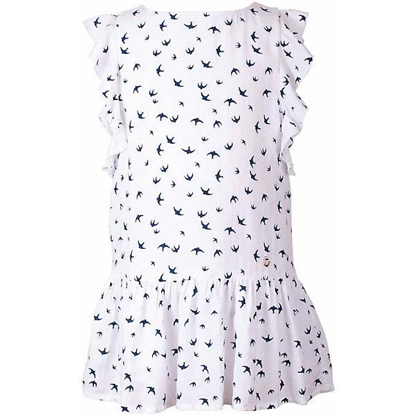 Платье для девочки  BUTTON BLUEПлатья и сарафаны<br>Платье для девочки  BUTTON BLUE<br>Прекрасный летний вариант -  текстильное платье с рисунком на тонкой хлопковой подкладке. Модный силуэт, комфортная форма, выразительные детали делают платье для девочки отличным решением для каждого дня лета. Если вы хотите приобрести одновременно и красивую, и практичную, и удобную вещь, вам стоит купить детское платье от Button Blue. Низкая цена не окажет влияния на бюджет семьи, позволив создать интересный базовый гардероб для долгожданных каникул!<br>Состав:<br>Ткань  верха: 100%  вискоза подклад: 100% хлопок<br><br>Ширина мм: 236<br>Глубина мм: 16<br>Высота мм: 184<br>Вес г: 177<br>Цвет: белый<br>Возраст от месяцев: 24<br>Возраст до месяцев: 36<br>Пол: Женский<br>Возраст: Детский<br>Размер: 98,158,140,134,128,122,116,110,104<br>SKU: 5523343