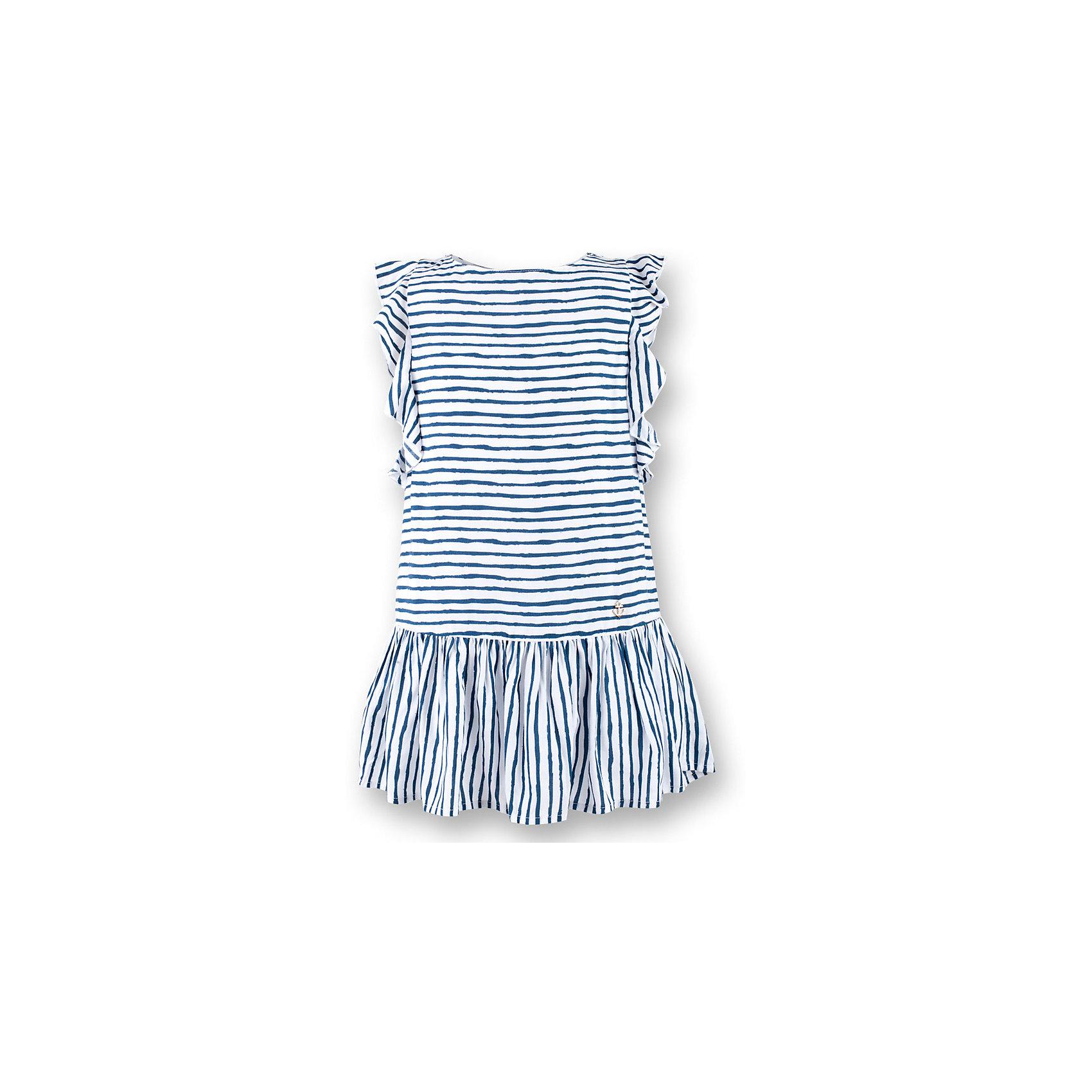 Платье для девочки  BUTTON BLUEПлатье для девочки  BUTTON BLUE<br>Прекрасный летний вариант -  текстильное платье в полоску на тонкой хлопковой подкладке. Модный силуэт, комфортная форма, выразительные детали делают платье для девочки отличным решением для каждого дня лета. Если вы хотите приобрести одновременно и красивую, и практичную, и удобную вещь, вам стоит купить детское платье от Button Blue. Низкая цена не окажет влияния на бюджет семьи, позволив создать интересный базовый гардероб для долгожданных каникул!<br>Состав:<br>Ткань  верха: 100%  вискоза подклад: 100% хлопок<br><br>Ширина мм: 236<br>Глубина мм: 16<br>Высота мм: 184<br>Вес г: 177<br>Цвет: синий<br>Возраст от месяцев: 144<br>Возраст до месяцев: 156<br>Пол: Женский<br>Возраст: Детский<br>Размер: 158,98,104,110,116,122,128,134,140,152<br>SKU: 5523353