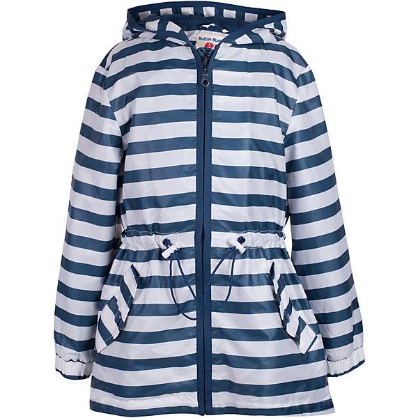 Куртка для девочки  BUTTON BLUEВерхняя одежда<br>Куртка для девочки  BUTTON BLUE<br>Стильная ветровка в полоску - прекрасное решение для летней прохлады. Модная комфортная форма, динамичный рисунок, продуманные детали подарят отличное настроение, капюшон надежно защитит от дождя и ветра. Если вы решили купить ветровку для девочки недорого, но хотите быть уверены в ее комфорте, качестве, высоких потребительских свойствах, ветровка Button Blue - то, что нужно!<br>Состав:<br>Ткань  верха: 100%  полиэстер, подклад: 100%  полиэстер<br>Ширина мм: 356; Глубина мм: 10; Высота мм: 245; Вес г: 519; Цвет: белый; Возраст от месяцев: 24; Возраст до месяцев: 36; Пол: Женский; Возраст: Детский; Размер: 98,158,104,110,116,122,128,134,140,146,152; SKU: 5523412;