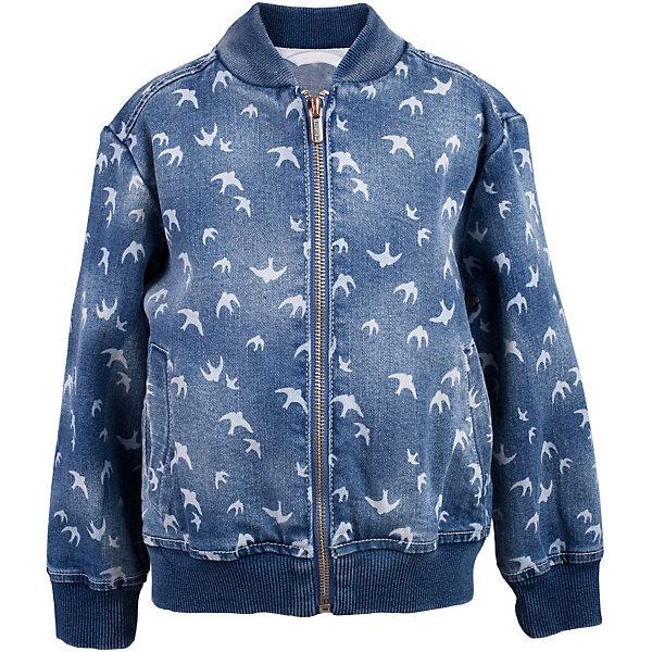 Куртка джинсовая для девочки  BUTTON BLUEВерхняя одежда<br>Куртка джинсовая для девочки  BUTTON BLUE<br>Джинсовая куртка-бомбер для девочки - хит сезона! Прекрасная базовая вещь весеннего-летнего гардероба, джинсовая куртка с рисунком отлично сочетается с платьем, сарафаном, брюками, делая комплект интересным и завершенным. Если вы хотите, чтобы ваш ребенок был в тренде, вам нужно купить джинсовую куртку от Button Blue! Прекрасный внешний вид, высокие потребительские свойства не вызовут сомнений в ее качестве и комфорте. Низкая цена не окажет влияния на бюджет семьи, позволив создать модный гардероб для долгожданных каникул!<br>Состав:<br>99% хлопок 1%эластан<br><br>Ширина мм: 356<br>Глубина мм: 10<br>Высота мм: 245<br>Вес г: 519<br>Цвет: голубой<br>Возраст от месяцев: 48<br>Возраст до месяцев: 60<br>Пол: Женский<br>Возраст: Детский<br>Размер: 110,122,116,104,98,158,134,128<br>SKU: 5523424