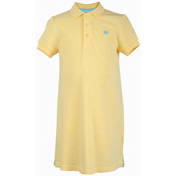 Платье для девочки  BUTTON BLUEПлатья и сарафаны<br>Платье для девочки  BUTTON BLUE<br>Хит прогулочного летнего гардероба, трикотажное платье в спортивном стиле, выглядит отлично! Модный трапециевидный силуэт, яркий цвет, воротник с застежкой поло делают платье идеальным решением на каждый день. Купить детское трикотажное платье от Button Blue, значит, позаботиться о комфорте и прекрасном внешнем виде своего ребенка.<br>Состав:<br>100%  хлопок<br>Ширина мм: 236; Глубина мм: 16; Высота мм: 184; Вес г: 177; Цвет: желтый; Возраст от месяцев: 24; Возраст до месяцев: 36; Пол: Женский; Возраст: Детский; Размер: 98,158,152,146,140,134,128,122,116,110,104; SKU: 5523485;