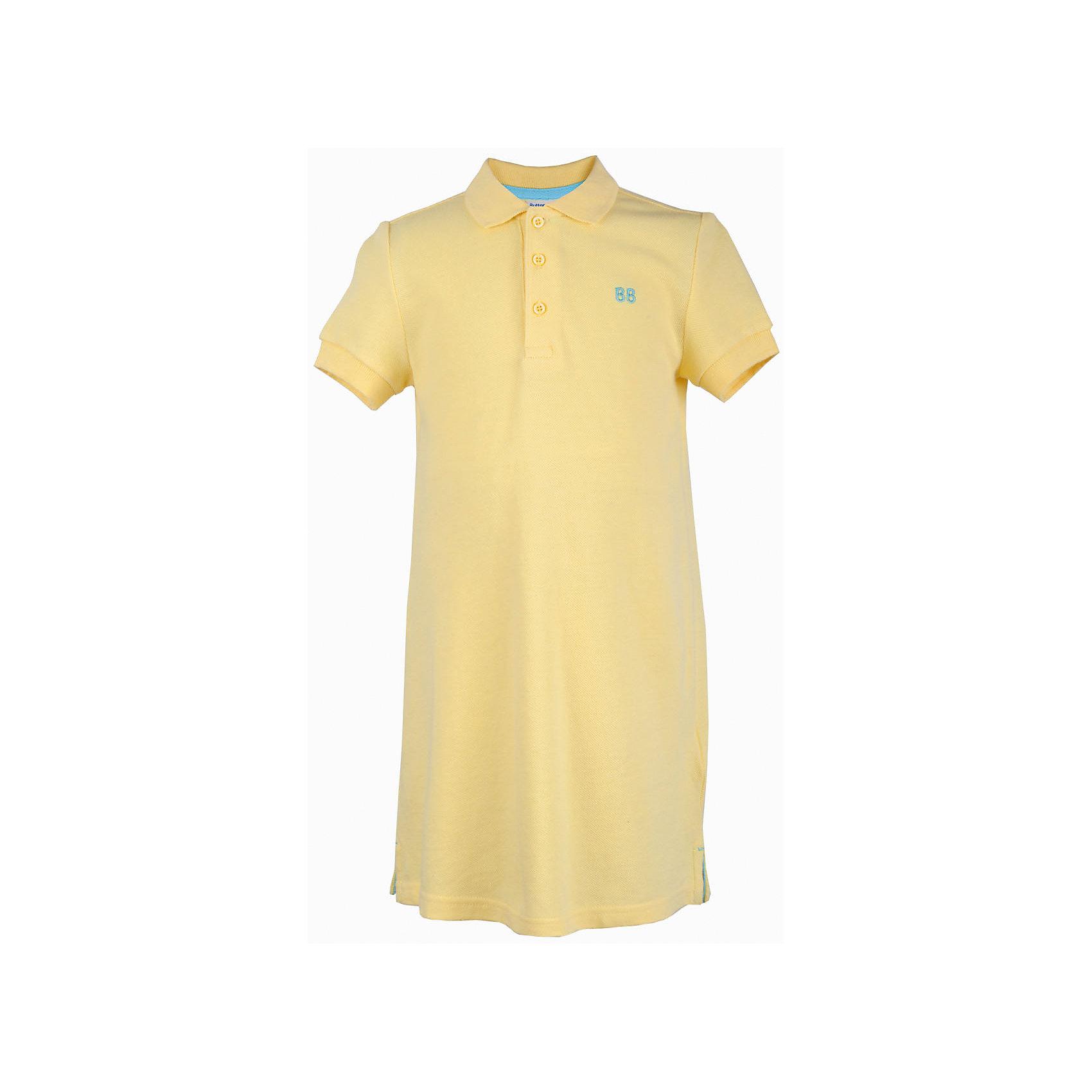 Платье для девочки  BUTTON BLUEПлатья и сарафаны<br>Платье для девочки  BUTTON BLUE<br>Хит прогулочного летнего гардероба, трикотажное платье в спортивном стиле, выглядит отлично! Модный трапециевидный силуэт, яркий цвет, воротник с застежкой поло делают платье идеальным решением на каждый день. Купить детское трикотажное платье от Button Blue, значит, позаботиться о комфорте и прекрасном внешнем виде своего ребенка.<br>Состав:<br>100%  хлопок<br><br>Ширина мм: 236<br>Глубина мм: 16<br>Высота мм: 184<br>Вес г: 177<br>Цвет: желтый<br>Возраст от месяцев: 144<br>Возраст до месяцев: 156<br>Пол: Женский<br>Возраст: Детский<br>Размер: 158,98,104,110,116,122,128,134,140,146,152<br>SKU: 5523485