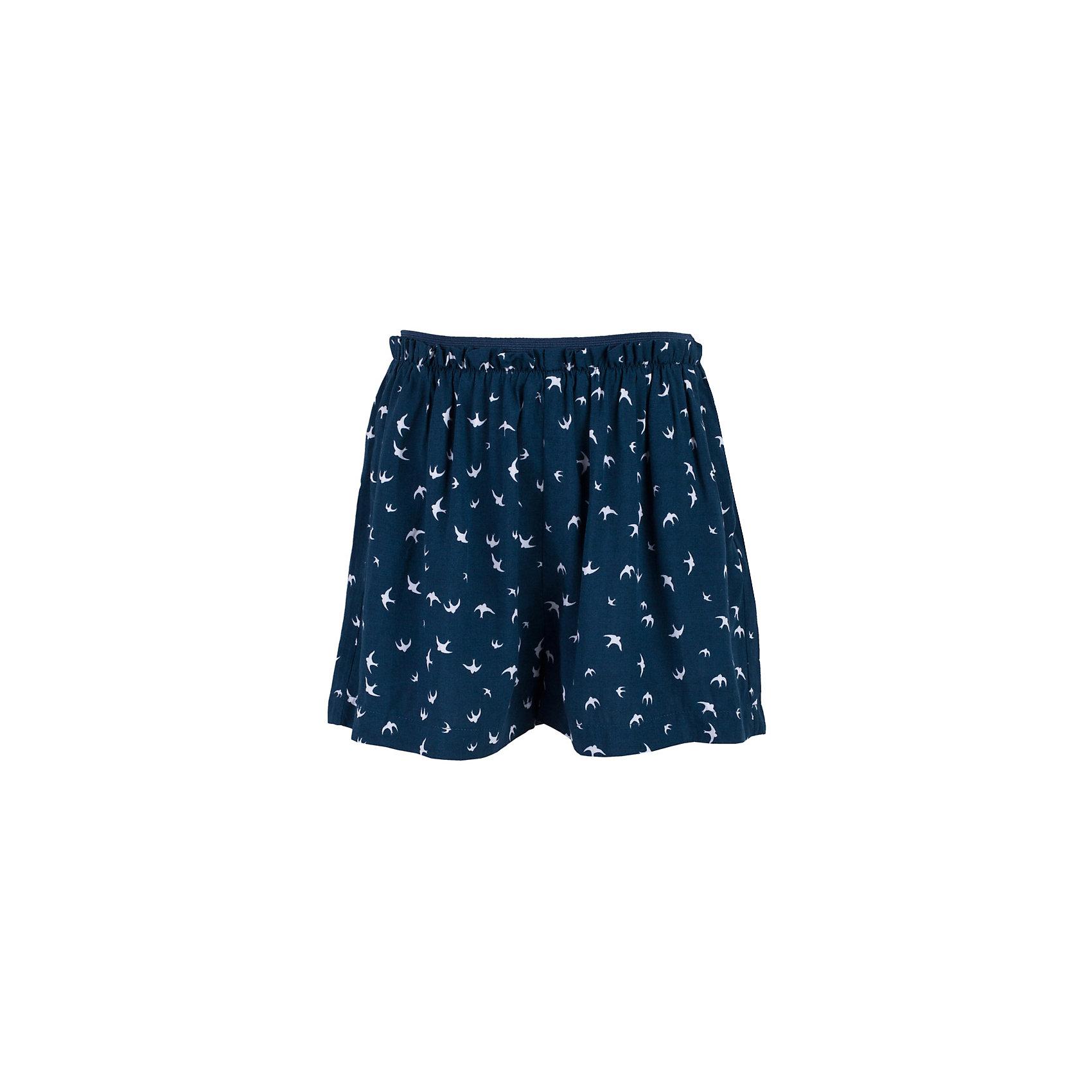 Шорты для девочки  BUTTON BLUEШорты для девочки  BUTTON BLUE<br>Прекрасный летний вариант - юбка-шорты из тонкой мягкой вискозы с мелким рисунком. Оригинальность этой модели в удобстве, свойственном шортам и в привлекательности расклешенной юбки. Если вы хотите купить юбку для активной девочки, вам стоит купить юбку-шорты. Микс спорта и элегантности - прекрасный вариант для уверенности и комфорта юной леди.<br>Состав:<br>100%  вискоза<br><br>Ширина мм: 191<br>Глубина мм: 10<br>Высота мм: 175<br>Вес г: 273<br>Цвет: синий<br>Возраст от месяцев: 144<br>Возраст до месяцев: 156<br>Пол: Женский<br>Возраст: Детский<br>Размер: 158,98,104,110,116,122,128,134,140,146,152<br>SKU: 5523712
