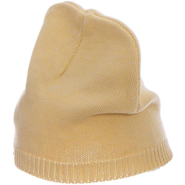 Шапка  BUTTON BLUEГоловные уборы<br>Шапка  BUTTON BLUE<br>Вязаные шапки - важный атрибут повседневного гардероба! Они отлично согревают, а также украшают и завершают весенний комплект. У них один недостаток: они часто теряются. Шапки забывают в парке, в школе, в детском саду, поэтому их в гардеробе должно быть много, а значит, шапки надо покупать по доступной цене. Купить недорого шапку для девочки от Button Blue, значит, позаботиться о здоровье, красоте и комфорте ребенка.<br>Состав:<br>100%  хлопок<br><br>Ширина мм: 89<br>Глубина мм: 117<br>Высота мм: 44<br>Вес г: 155<br>Цвет: желтый<br>Возраст от месяцев: 24<br>Возраст до месяцев: 36<br>Пол: Унисекс<br>Возраст: Детский<br>Размер: 50,56,54,52<br>SKU: 5523963