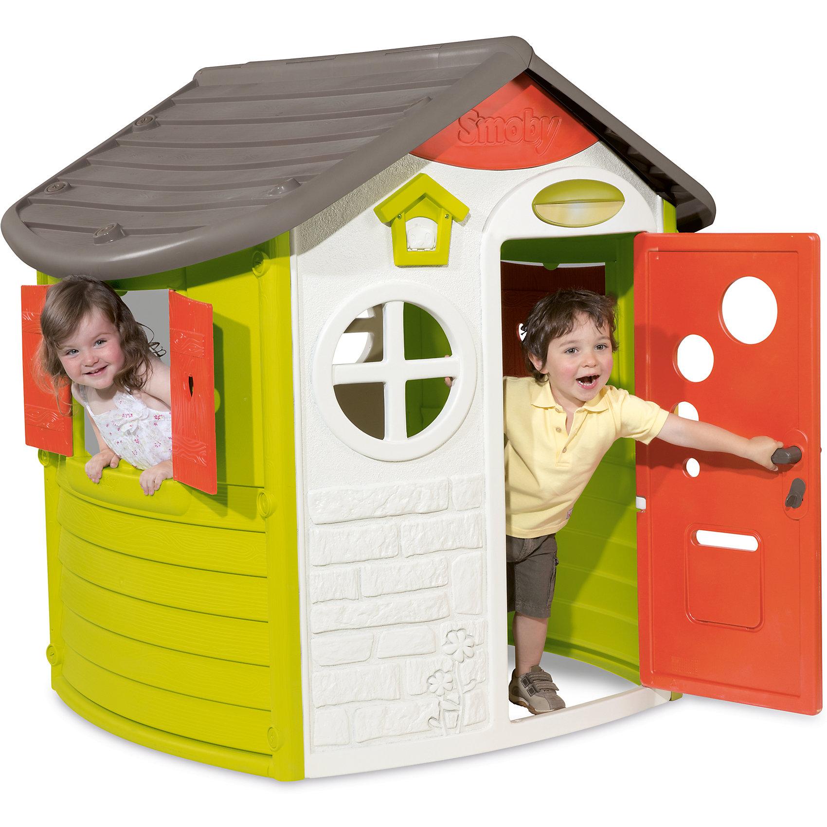 Домик Jura, SmobyДомики и мебель<br>Домик сочетает в себе классический вид и дизайнерские элементы. В домике есть два окна, которые закрываются при помощи ставень, дверь с почтовым боксом и ключом, а также маленькая дверь с обратной стороны. Домик выполнен из высококачественного пластика - не выгорает на солнце и выдерживает морозы до -15 градусов. Возраст: от 2 лет.<br><br>Ширина мм: 983<br>Глубина мм: 1215<br>Высота мм: 300<br>Вес г: 22000<br>Возраст от месяцев: 24<br>Возраст до месяцев: 84<br>Пол: Унисекс<br>Возраст: Детский<br>SKU: 5524068