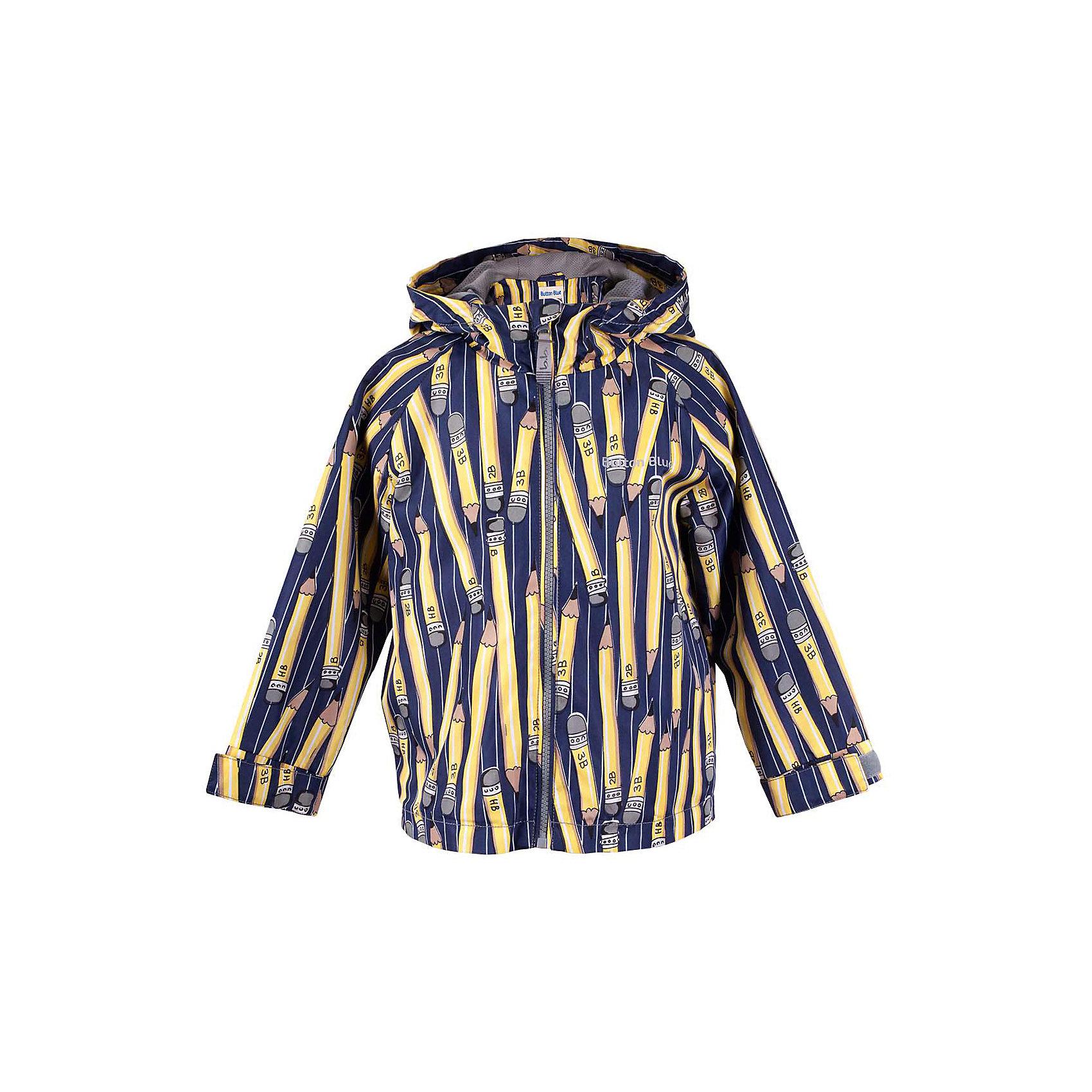 Куртка для мальчика  BUTTON BLUEВерхняя одежда<br>Куртка для мальчика  BUTTON BLUE<br>Отличная ветровка для мальчика понравится всем любителям активных прогулок! Ветровка сделана с соблюдением технологических особенностей производства спортивной одежды. Она не промокает, специальная подкладка создает комфорт при длительной носке, светоотражающие элементы обеспечивают безопасность ребенка. Водоотталкивающая ткань с оригинальным принтом делает ветровку запоминающейся. Если вы хотите купить отличную детскую ветровку недорого и не сомневаться в ее качестве и комфорте, ветровка от Button Blue - то, что вам нужно!<br>Состав:<br>Ткань  верха: 100% полиэстер, подклад: 100% полиэстер<br><br>Ширина мм: 356<br>Глубина мм: 10<br>Высота мм: 245<br>Вес г: 519<br>Цвет: синий<br>Возраст от месяцев: 48<br>Возраст до месяцев: 60<br>Пол: Мужской<br>Возраст: Детский<br>Размер: 110,116,122,128,134,140,146,152,158,98,104<br>SKU: 5524093