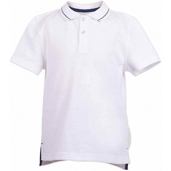 Футболка-поло для мальчика  BUTTON BLUEФутболки, поло и топы<br>Поло для мальчика  BUTTON BLUE<br>Белая футболка-поло - изделие из разряда must have! Это не только базовая вещь в гардеробе ребенка, но и залог хорошего летнего настроения! Если вы решили купить недорогую  футболку-поло для мальчика, выберете модель от Button Blue, и ваш ребенок будет доволен! Низкая цена не окажет влияния на бюджет семьи, позволив создать интересный базовый гардероб для долгожданных каникул!<br>Состав:<br>100%  хлопок<br>Ширина мм: 199; Глубина мм: 10; Высота мм: 161; Вес г: 151; Цвет: белый; Возраст от месяцев: 24; Возраст до месяцев: 36; Пол: Мужской; Возраст: Детский; Размер: 98,158,152,146,140,134,128,122,116,110,104; SKU: 5524344;