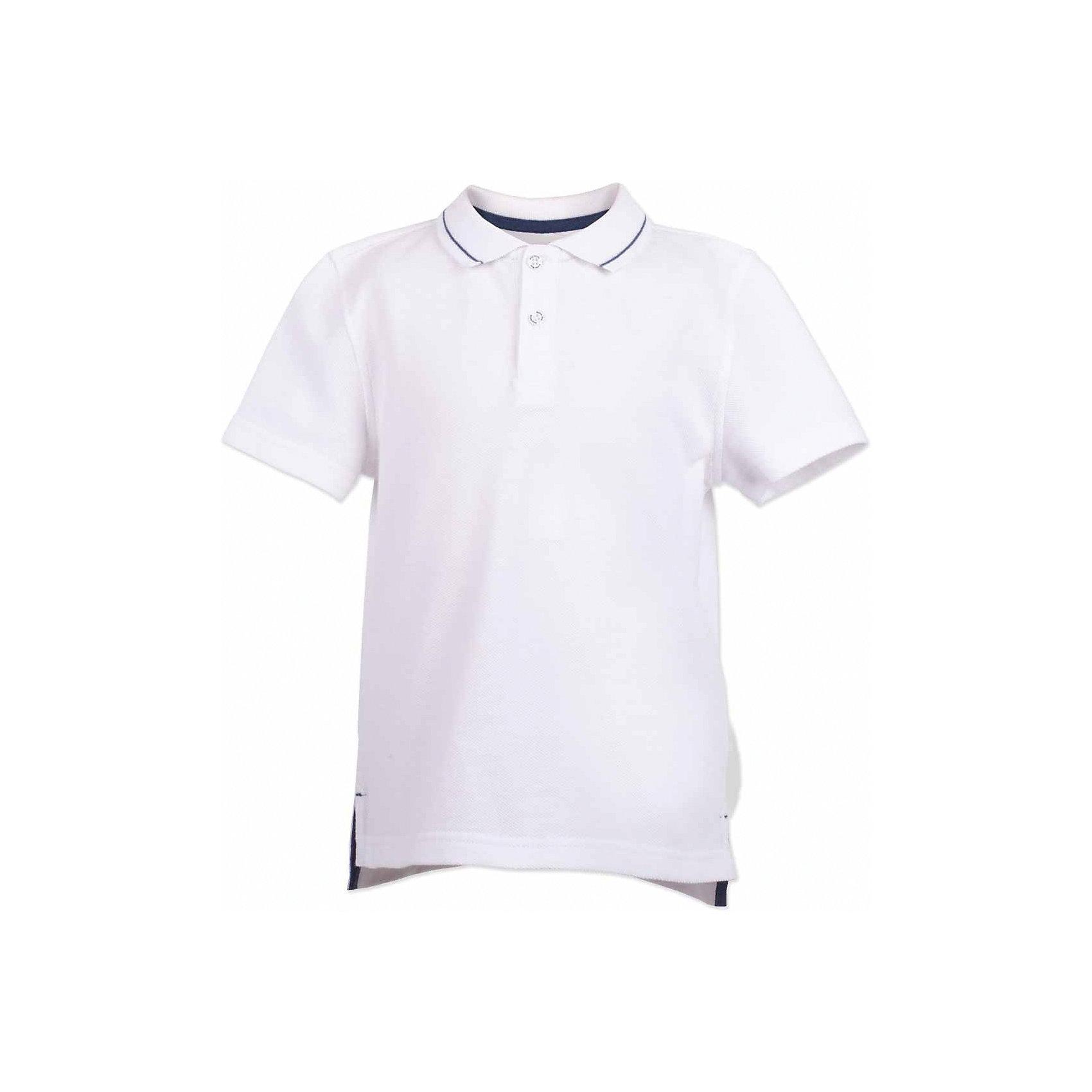 Футболка-поло для мальчика  BUTTON BLUEФутболки, поло и топы<br>Поло для мальчика  BUTTON BLUE<br>Белая футболка-поло - изделие из разряда must have! Это не только базовая вещь в гардеробе ребенка, но и залог хорошего летнего настроения! Если вы решили купить недорогую  футболку-поло для мальчика, выберете модель от Button Blue, и ваш ребенок будет доволен! Низкая цена не окажет влияния на бюджет семьи, позволив создать интересный базовый гардероб для долгожданных каникул!<br>Состав:<br>100%  хлопок<br><br>Ширина мм: 199<br>Глубина мм: 10<br>Высота мм: 161<br>Вес г: 151<br>Цвет: белый<br>Возраст от месяцев: 144<br>Возраст до месяцев: 156<br>Пол: Мужской<br>Возраст: Детский<br>Размер: 158,98,104,110,116,122,128,134,140,146,152<br>SKU: 5524344