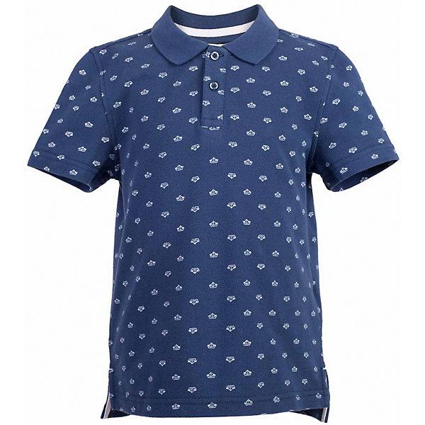 Поло для мальчика  BUTTON BLUEФутболки, поло и топы<br>Поло для мальчика  BUTTON BLUE<br>Синяя футболка-поло - изделие из разряда must have! Это не только базовая вещь в гардеробе ребенка, но и залог хорошего летнего настроения! Если вы решили купить недорогую  футболку-поло для мальчика, выберете стильное синее поло с мелким рисунком от Button Blue, и ваш ребенок будет доволен! Низкая цена не окажет влияния на бюджет семьи, позволив создать интересный базовый гардероб для долгожданных каникул!<br>Состав:<br>100%  хлопок<br><br>Ширина мм: 199<br>Глубина мм: 10<br>Высота мм: 161<br>Вес г: 151<br>Цвет: синий<br>Возраст от месяцев: 60<br>Возраст до месяцев: 72<br>Пол: Мужской<br>Возраст: Детский<br>Размер: 116,158,110,104,98,152,146,140,134,128,122<br>SKU: 5524356