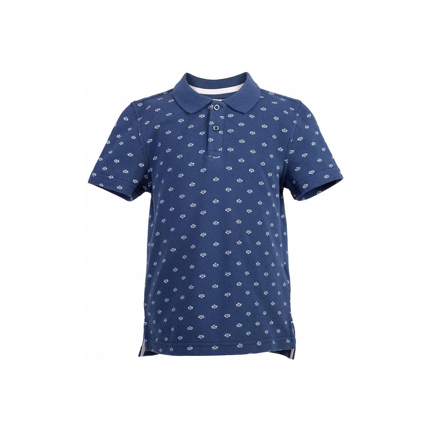 Поло для мальчика  BUTTON BLUEФутболки, поло и топы<br>Поло для мальчика  BUTTON BLUE<br>Синяя футболка-поло - изделие из разряда must have! Это не только базовая вещь в гардеробе ребенка, но и залог хорошего летнего настроения! Если вы решили купить недорогую  футболку-поло для мальчика, выберете стильное синее поло с мелким рисунком от Button Blue, и ваш ребенок будет доволен! Низкая цена не окажет влияния на бюджет семьи, позволив создать интересный базовый гардероб для долгожданных каникул!<br>Состав:<br>100%  хлопок<br><br>Ширина мм: 199<br>Глубина мм: 10<br>Высота мм: 161<br>Вес г: 151<br>Цвет: синий<br>Возраст от месяцев: 132<br>Возраст до месяцев: 144<br>Пол: Мужской<br>Возраст: Детский<br>Размер: 152,158,98,104,110,116,122,128,134,140,146<br>SKU: 5524356